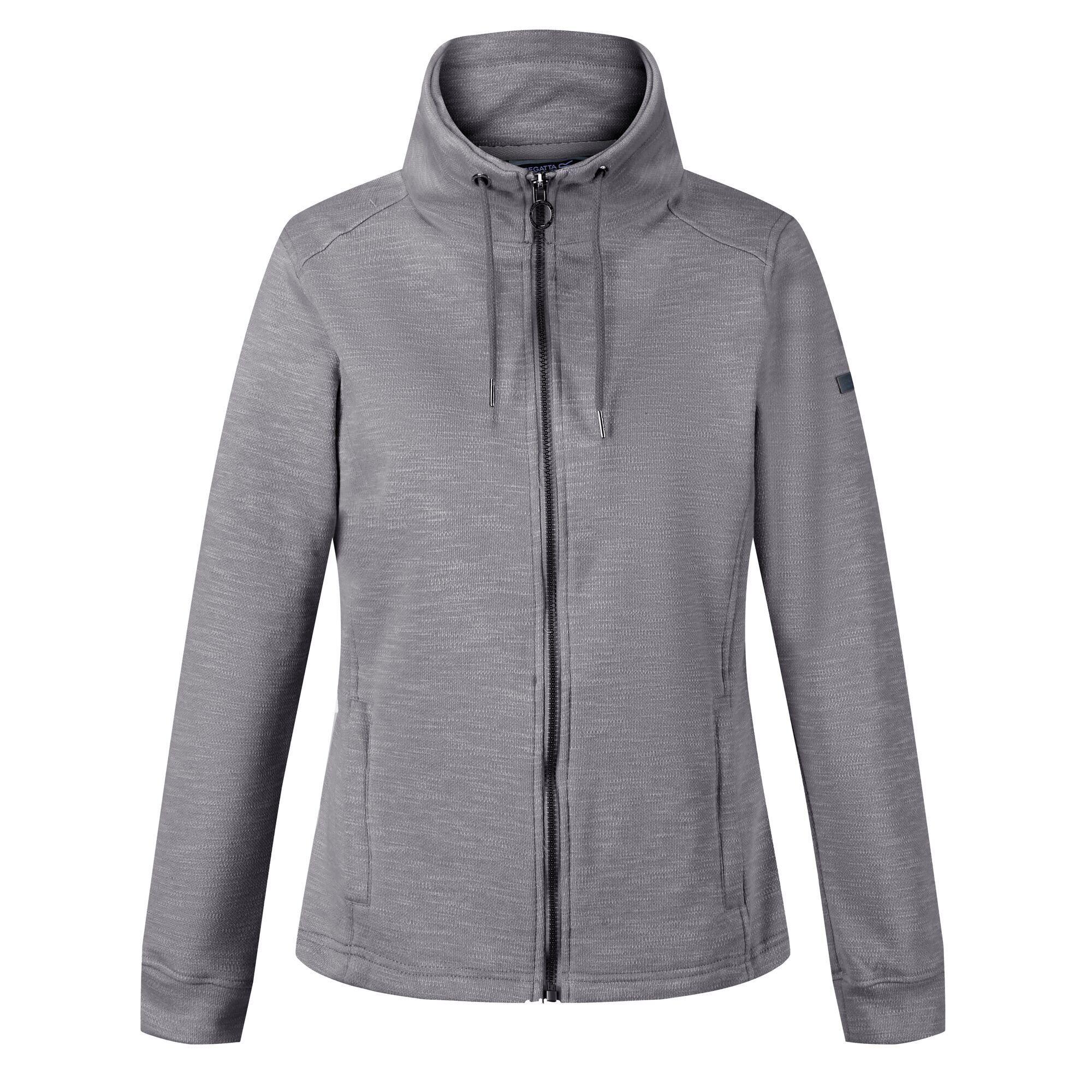 Regatta Womens/Ladies Olena Snood Collar Fleece Jacket (14 UK) (Rock Grey)