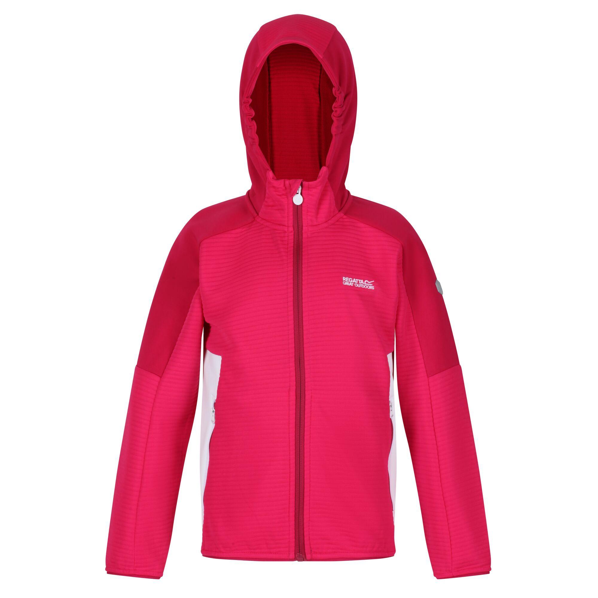 Regatta Childrens/Kids Fleece Jacket (7-8 Years) (Duchess Pink/Dark Cerise)