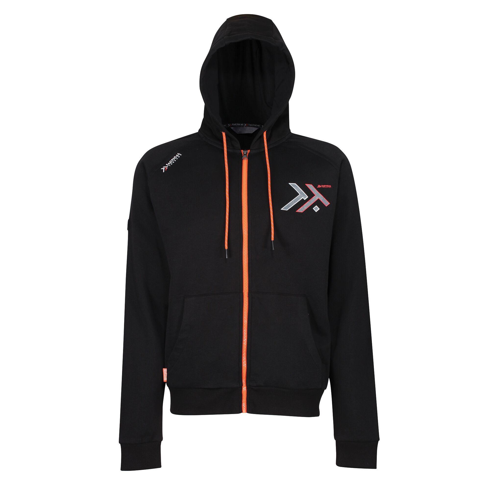 Regatta Mens Tactical Maneuver Hooded Fleece Jacket (3XL) (Black)