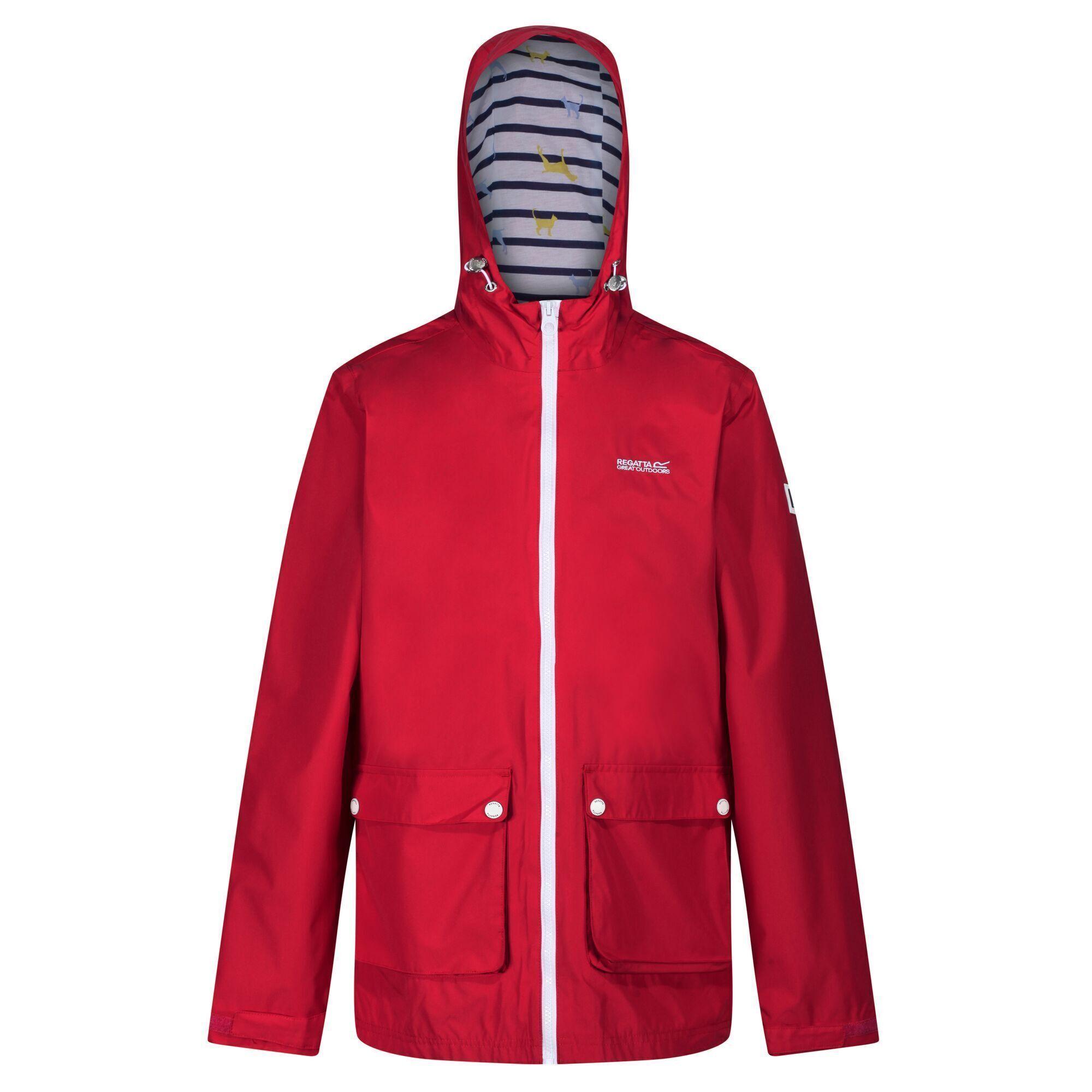 Regatta Womens/Ladies Baysea Waterproof Jacket (18 UK) (True Red)