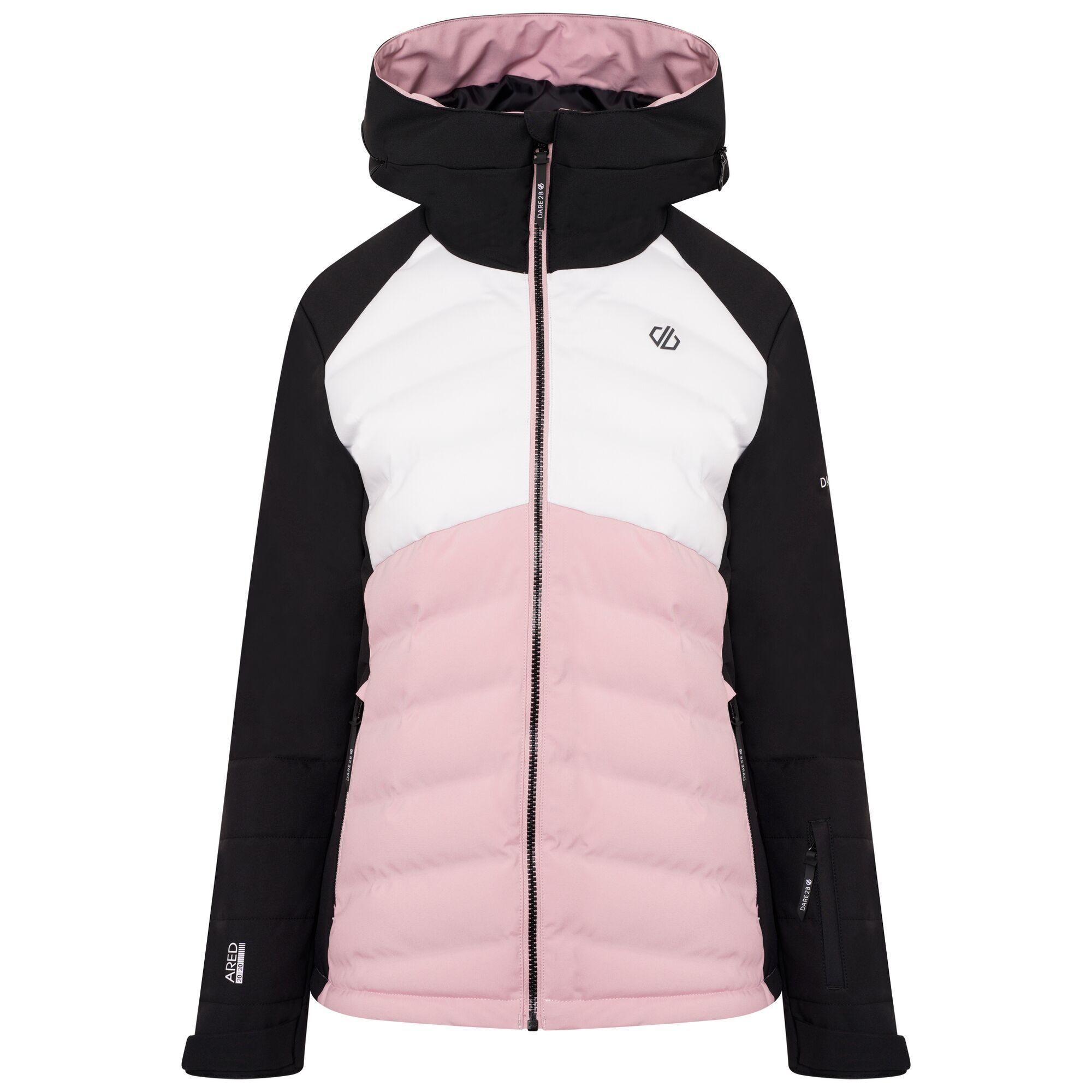 Dare 2B Womens/Ladies Coded Insulated Ski Jacket (12 UK) (Powder Pink/Black/White)