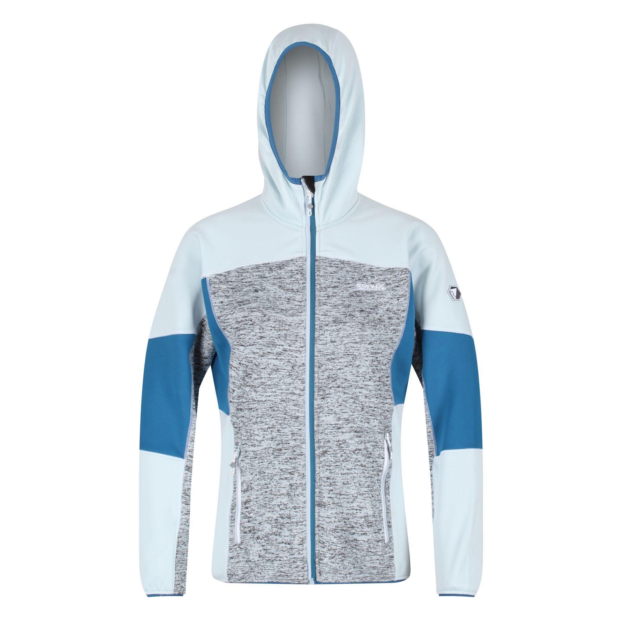 Regatta Womens/Ladies Walbury II Full Zip Fleece Jacket (18 UK) (Ice Blue/Blue Sapphire/Dark Denim)