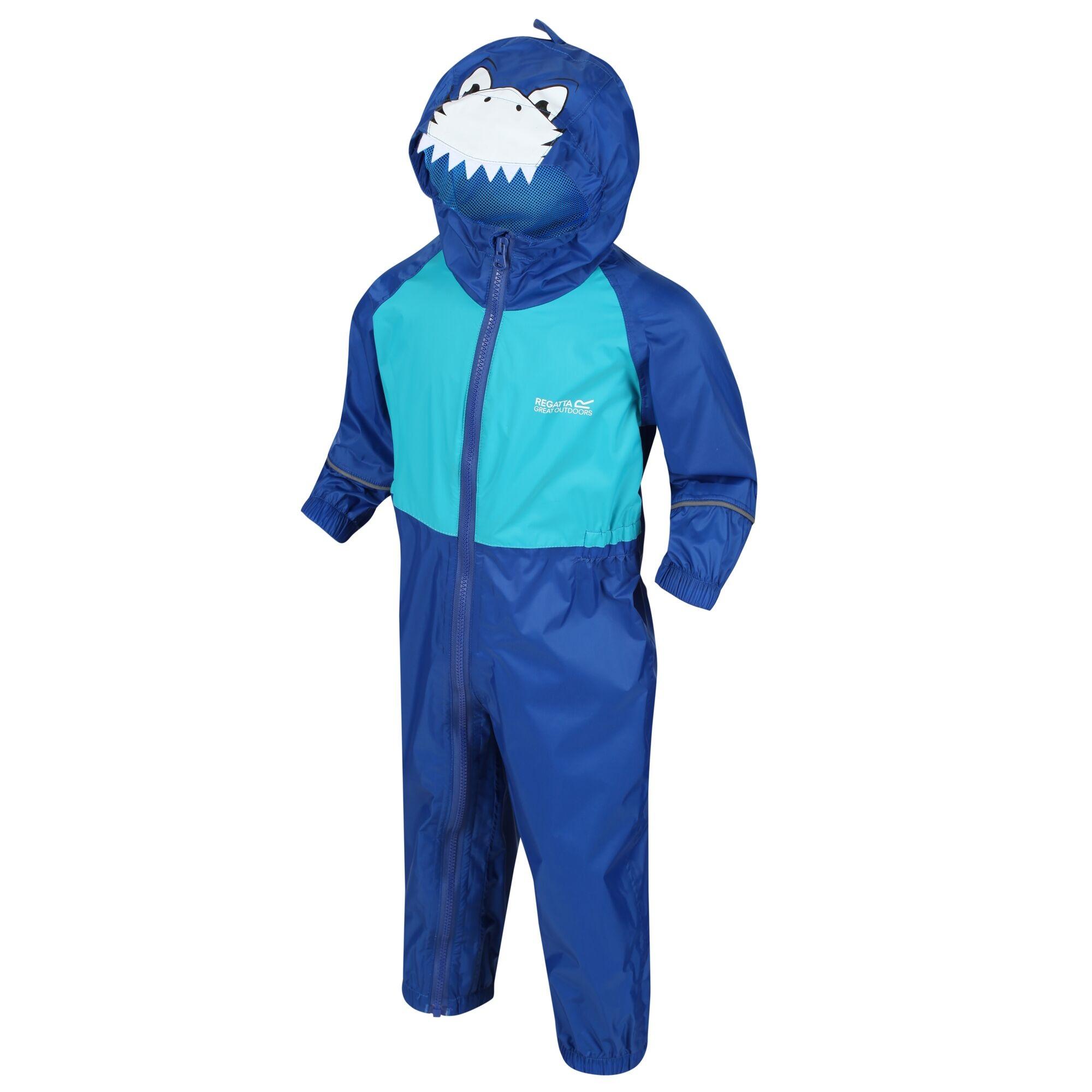 Regatta Great Outdoors Kids Charco Waterproof Rain Suit (36-48 Months) (Nautical Blue/Washed Azure)