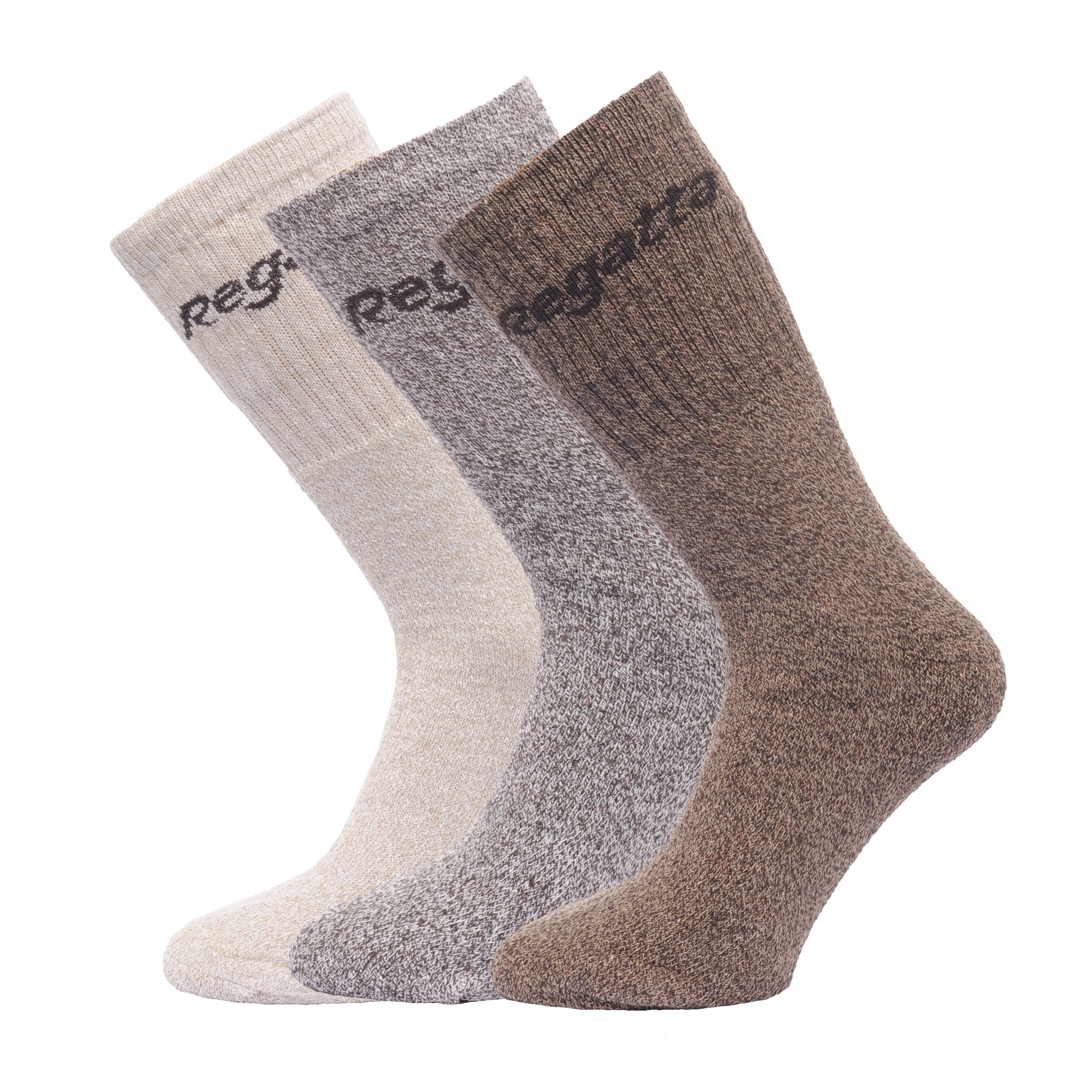 Regatta-Great-Outdoors-Mens-Cotton-Rich-Casual-Socks-Pack-Of-3-RG786 thumbnail 7