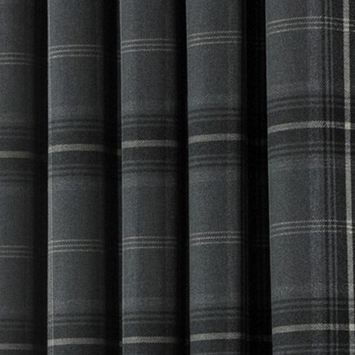 Riva Home Aviemore Checked Pattern Ringtop Curtains (66 x 90in (168 x 229cm)) (Natural)