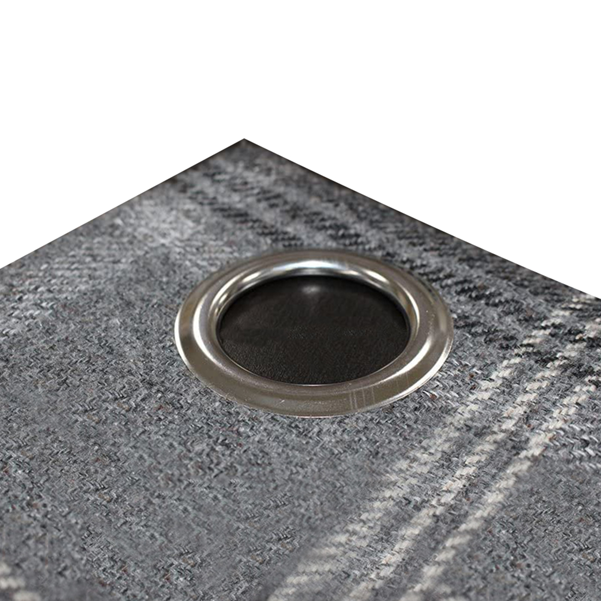 Riva Home Aviemore Checked Pattern Ringtop Curtains (46 x 54in (117 x 137cm)) (Rust)