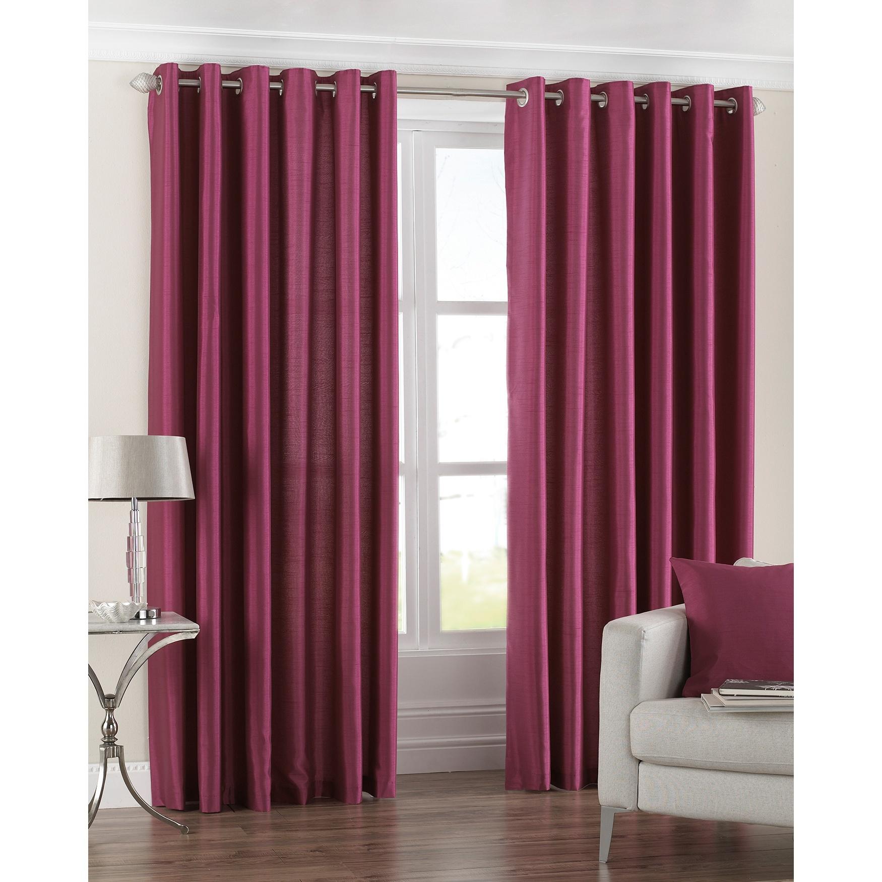 Riva Home Fiji Faux Silk Ringtop Curtains Rv406 Ebay