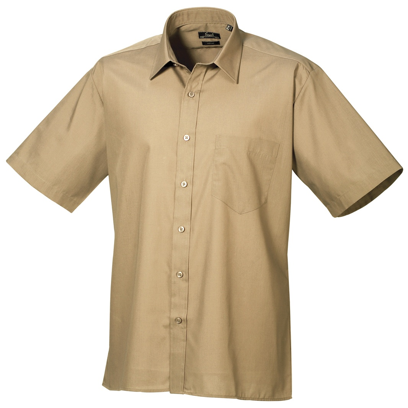 Premier Mens Short Sleeve Formal Poplin Plain Work Shirt (17) (Lilac)