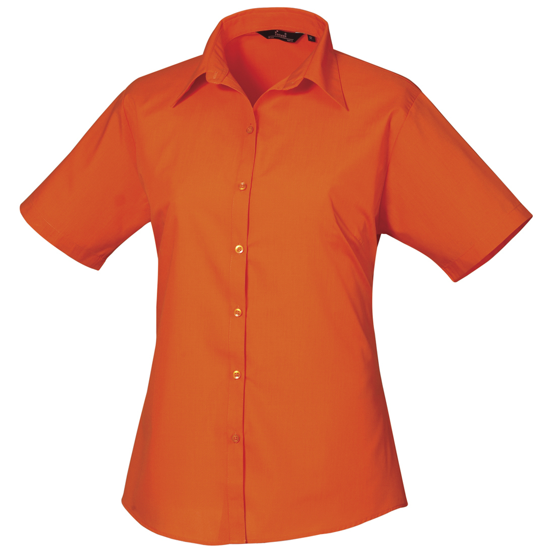 Premier Short Sleeve Poplin Blouse / Plain Work Shirt (12) (Burgundy)