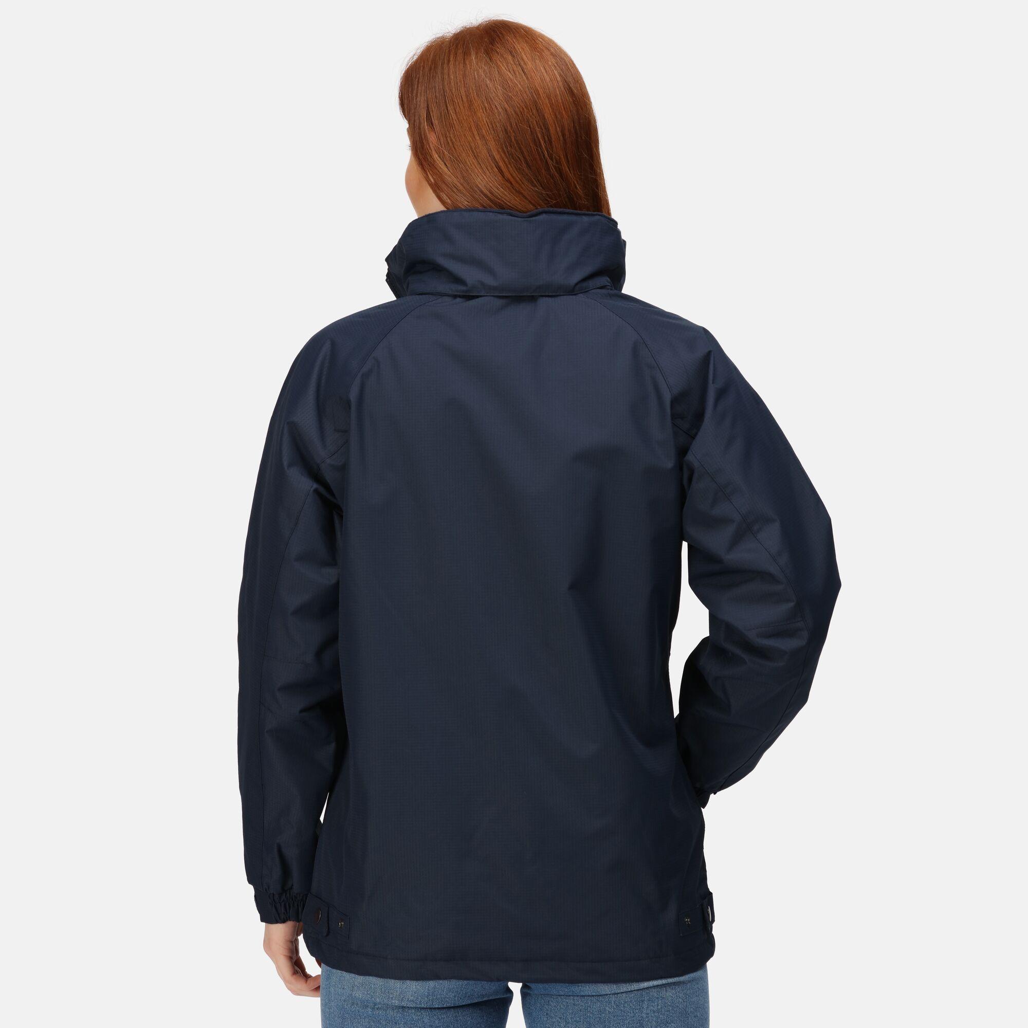 Regatta Womens/Ladies Waterproof Windproof Jacket (Fleece Lined) (14) (Navy)