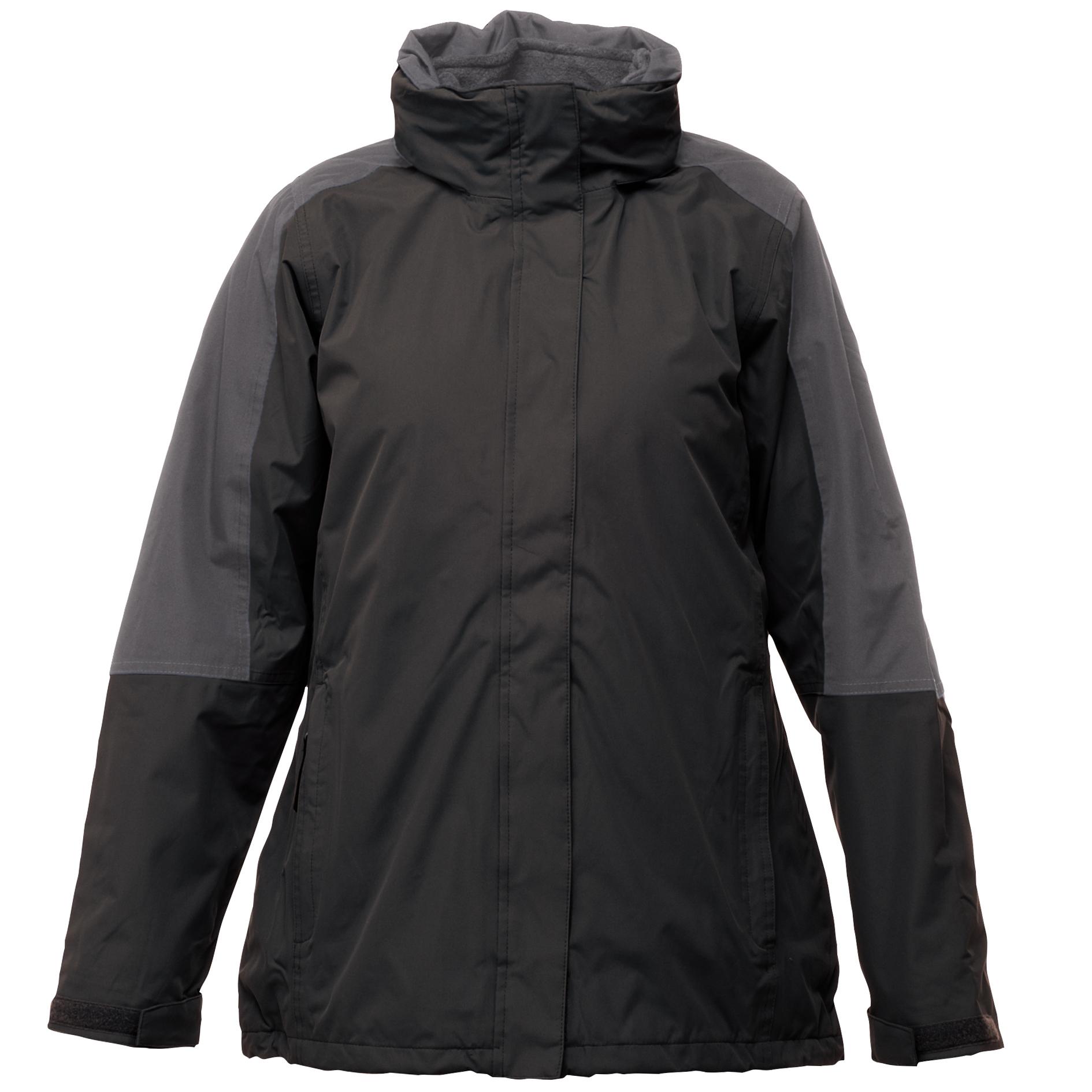 Regatta Womens/Ladies Defender III 3-In-1 Jacket  (Waterproof & Windproof) (10) (Black/Seal Grey)