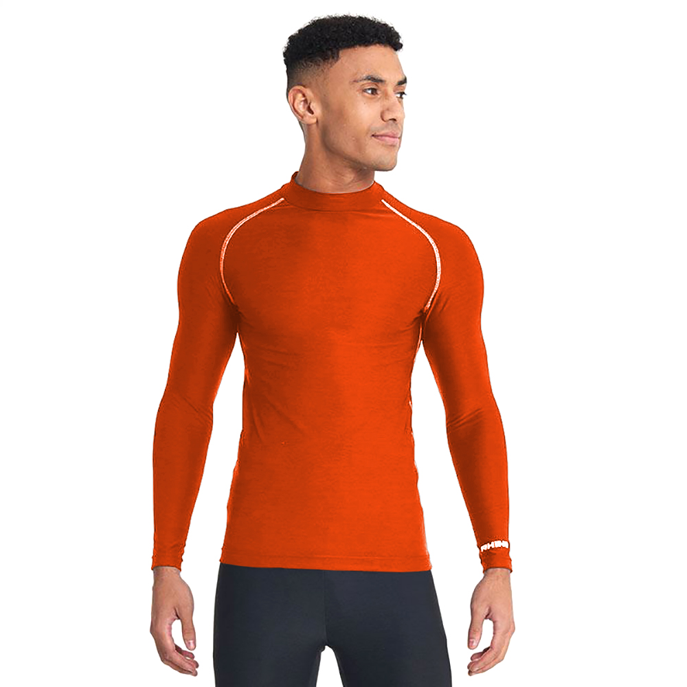 Rhino Mens Thermal Underwear Long Sleeve Base Layer Vest Top (L/XL) (Fluorescent Yellow)