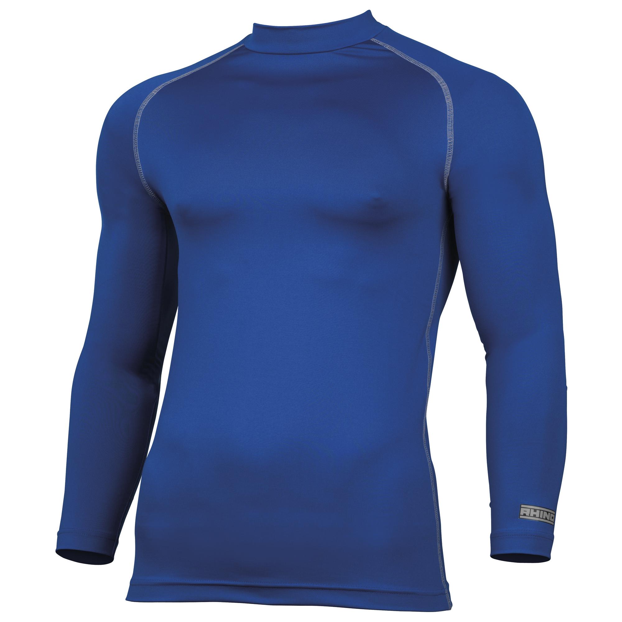 Rhino Mens Thermal Underwear Long Sleeve Base Layer Vest Top (L/XL) (Royal)