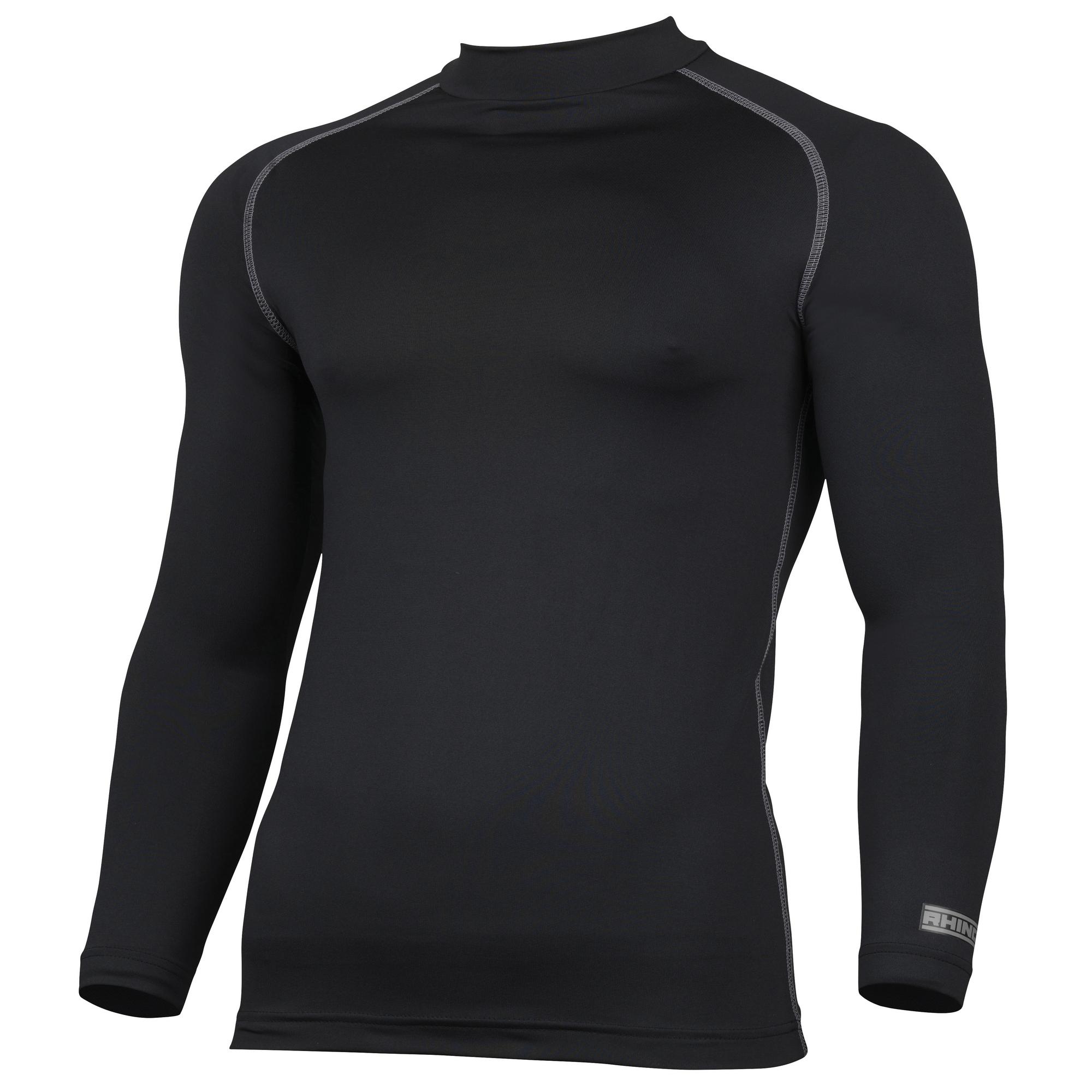 Rhino Mens Thermal Underwear Long Sleeve Base Layer Vest Top (L/XL) (Navy)