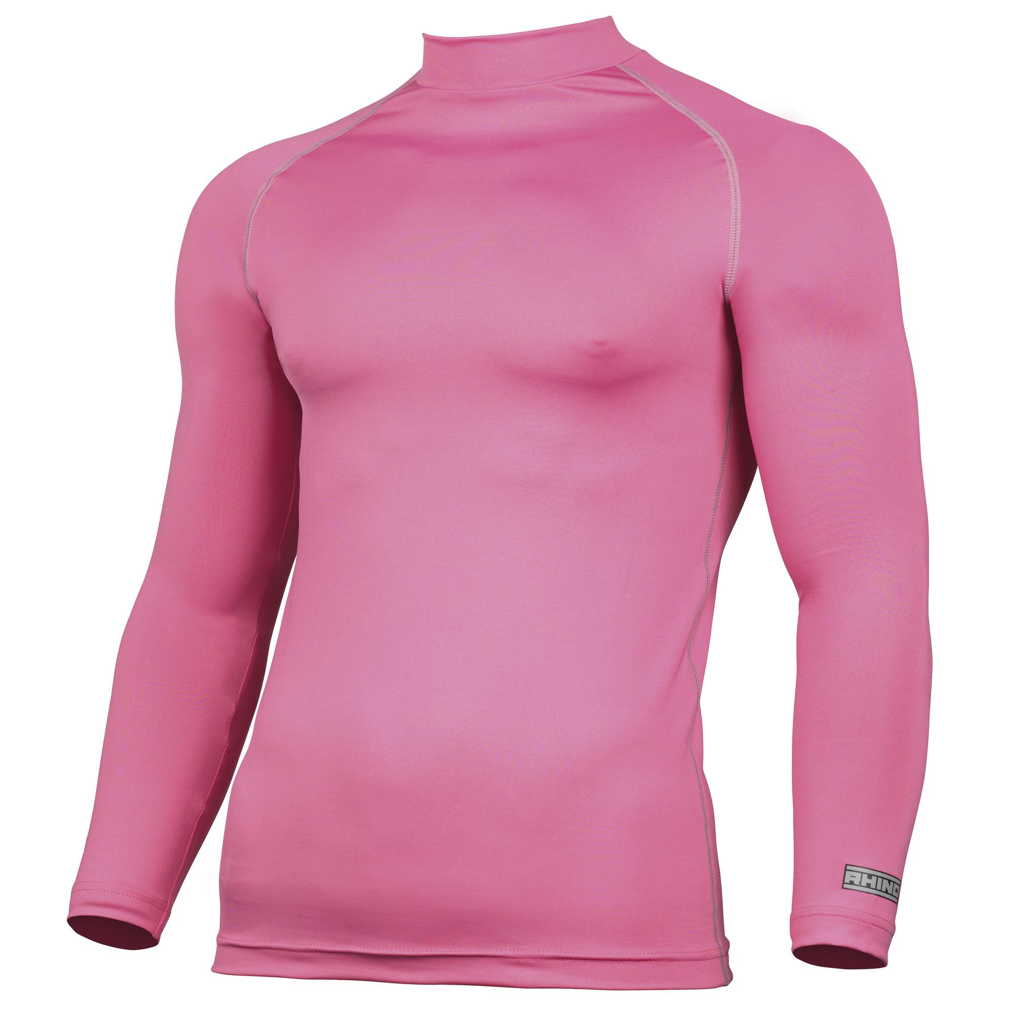 Rhino Mens Thermal Underwear Long Sleeve Base Layer Vest Top (2XL) (Bottle Green)