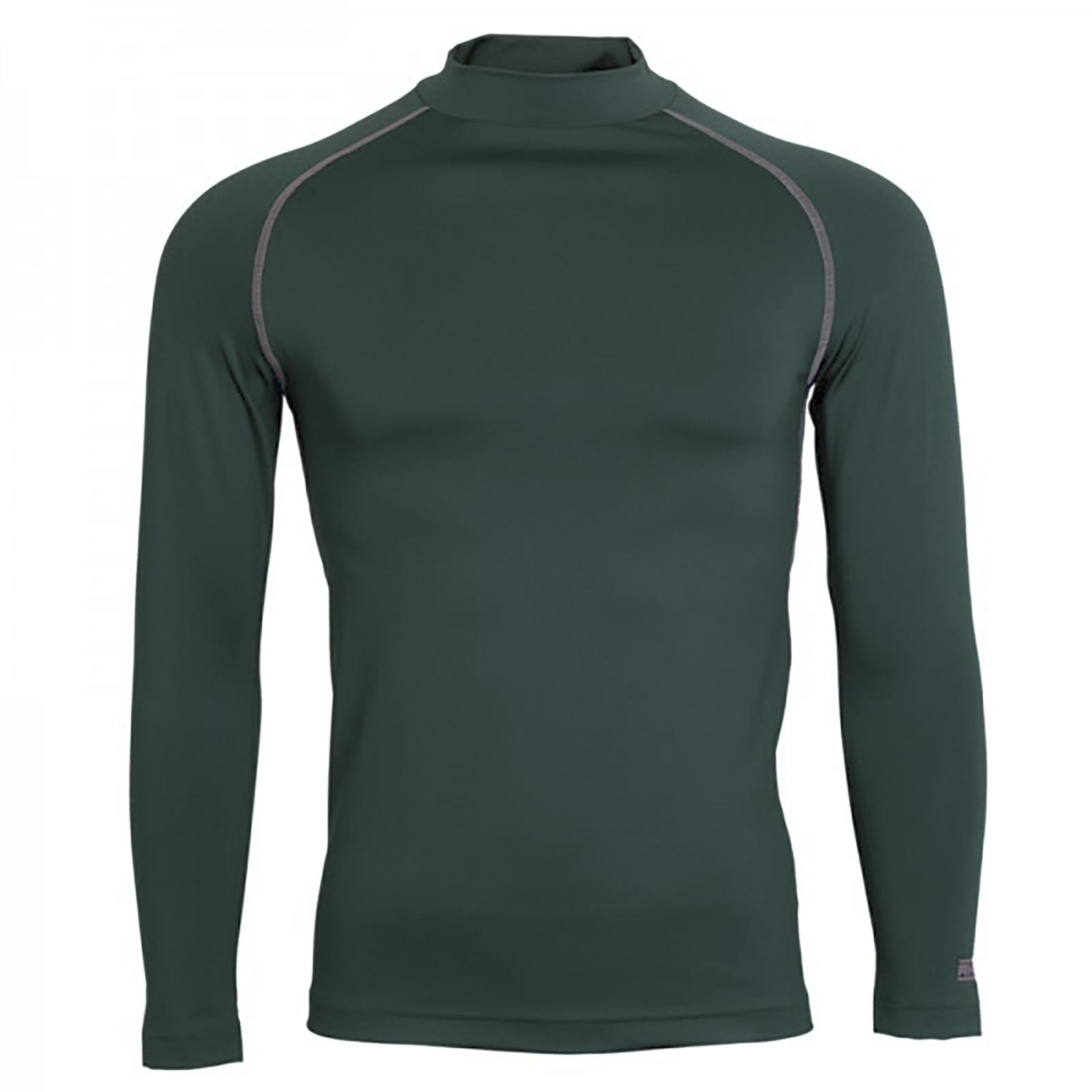 Rhino Mens Thermal Underwear Long Sleeve Base Layer Vest Top (XS) (Black Heather)