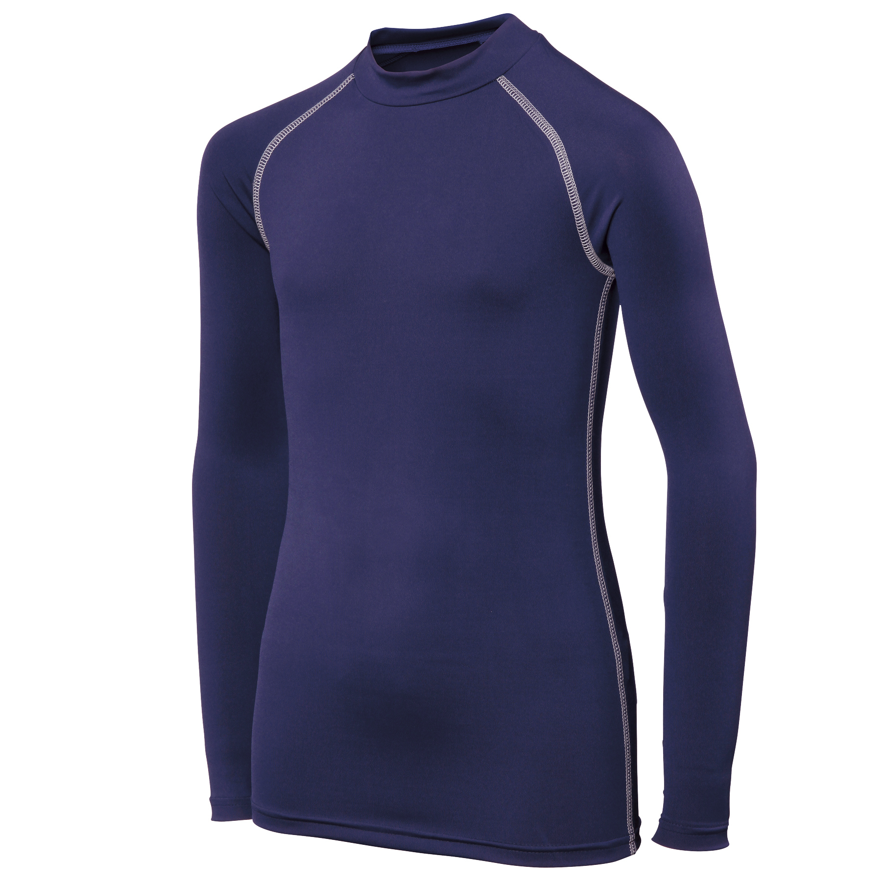 Rhino Childrens Boys Long Sleeve Thermal Underwear Base Layer Vest Top (5-6) (Navy)