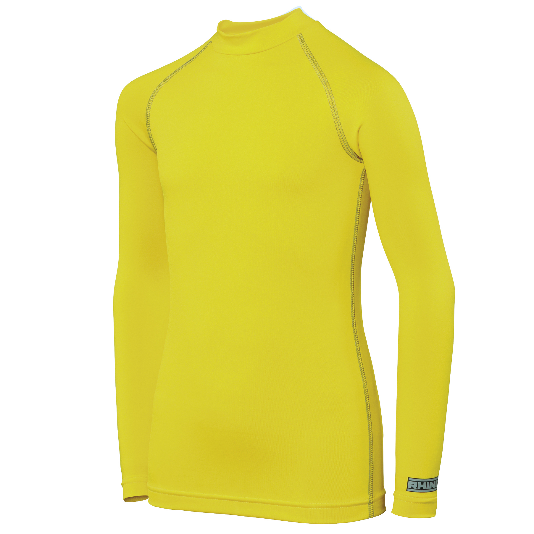 Rhino Childrens Boys Long Sleeve Thermal Underwear Base Layer Vest Top (LY-XLY) (Fluorescent Yellow)