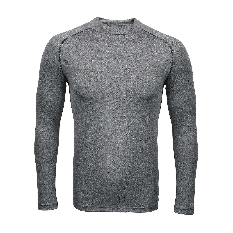 Rhino Childrens Boys Long Sleeve Thermal Underwear Base Layer Vest Top (XSY) (Heather Grey)