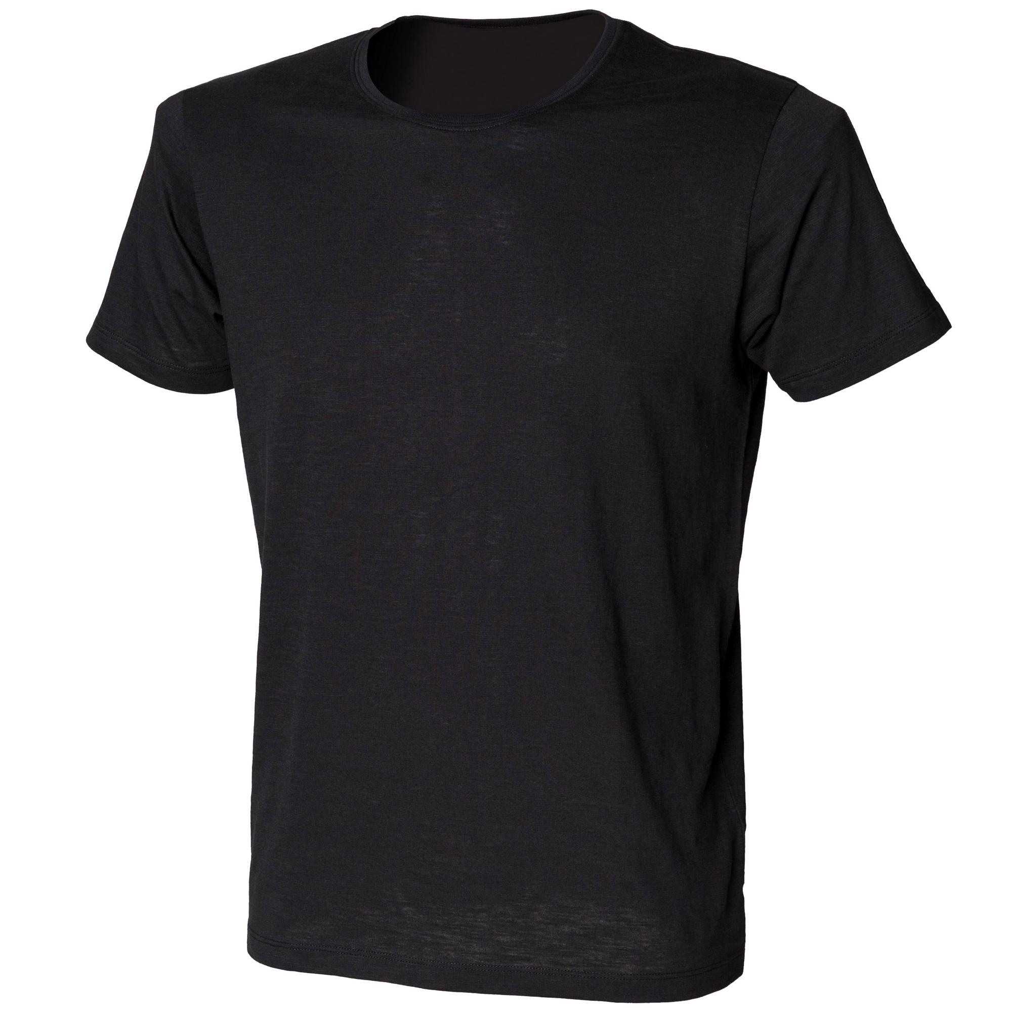 Skinni Fit Mens Slub T-Shirt (S) (White)