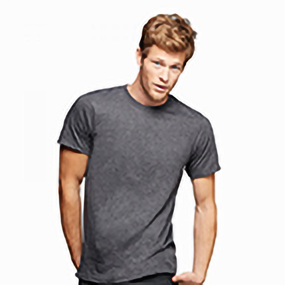 T-shirt-uni-a-manches-courtes-et-col-rond-Anvil-pour-homme-S-2XL-RW143