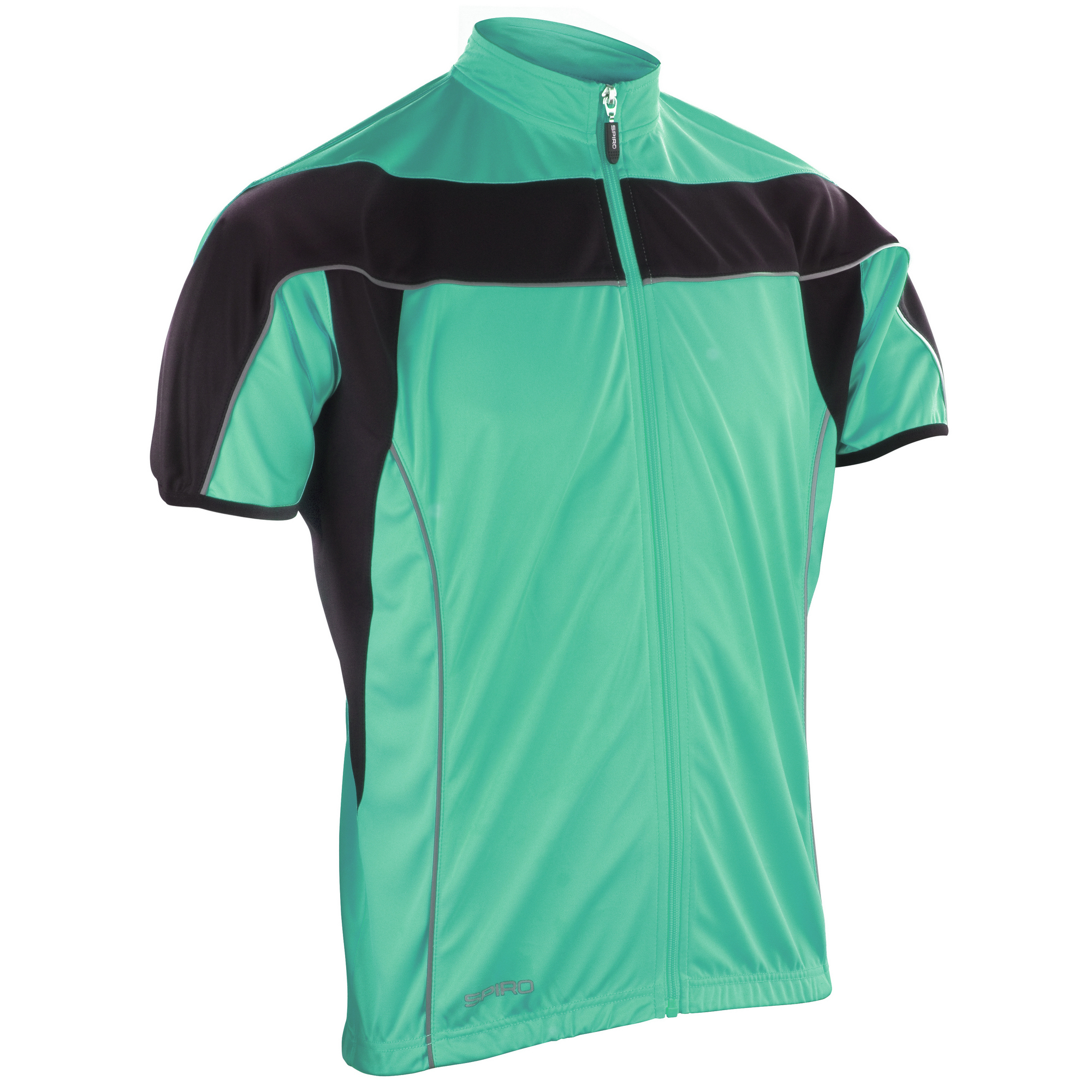 c9480ee6f Spiro Mens Cycling 1 4 Zip Cool-Dry Performance Light Jacket Top (RW1484   Picture 2 of 2