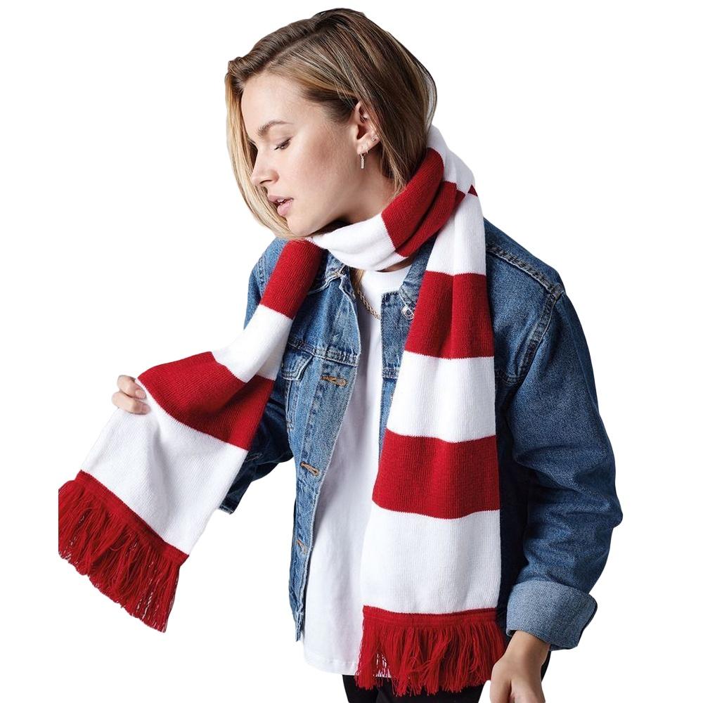 Beechfield-Echarpe-rayee-tricotee-Adulte-unisexe-18-couleurs-RW2031