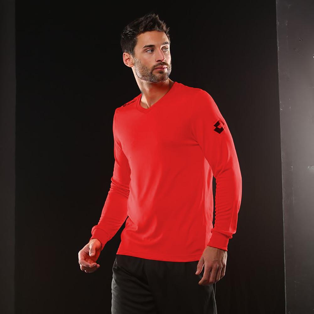 Lotto-Mens-Football-Jersey-Long-Sleeve-Team-Evo-Sports-V-Shirt-RW2074 thumbnail 2