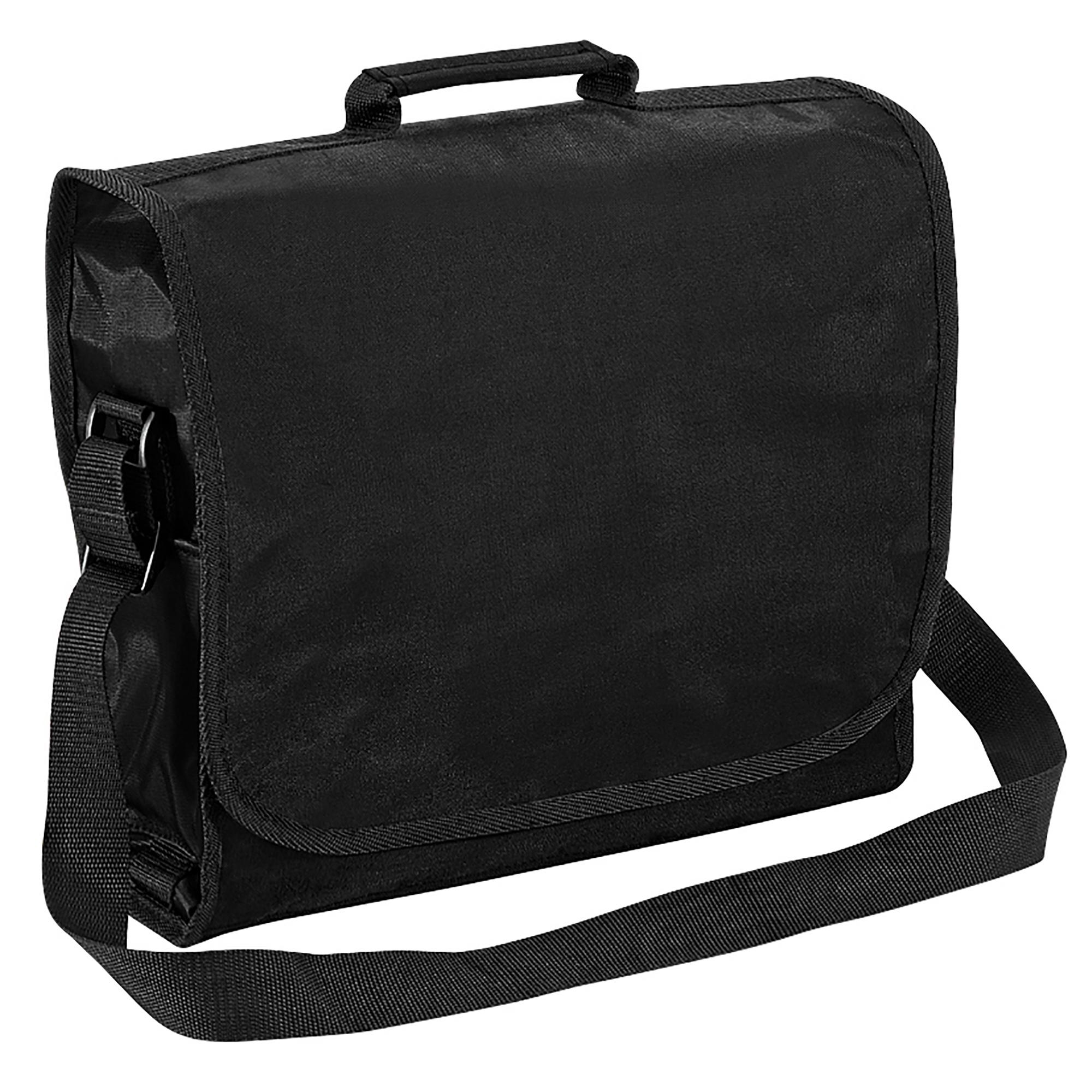 Quadra Plain Record / Messenger Bag (9 Litres) (One Size) (Black)