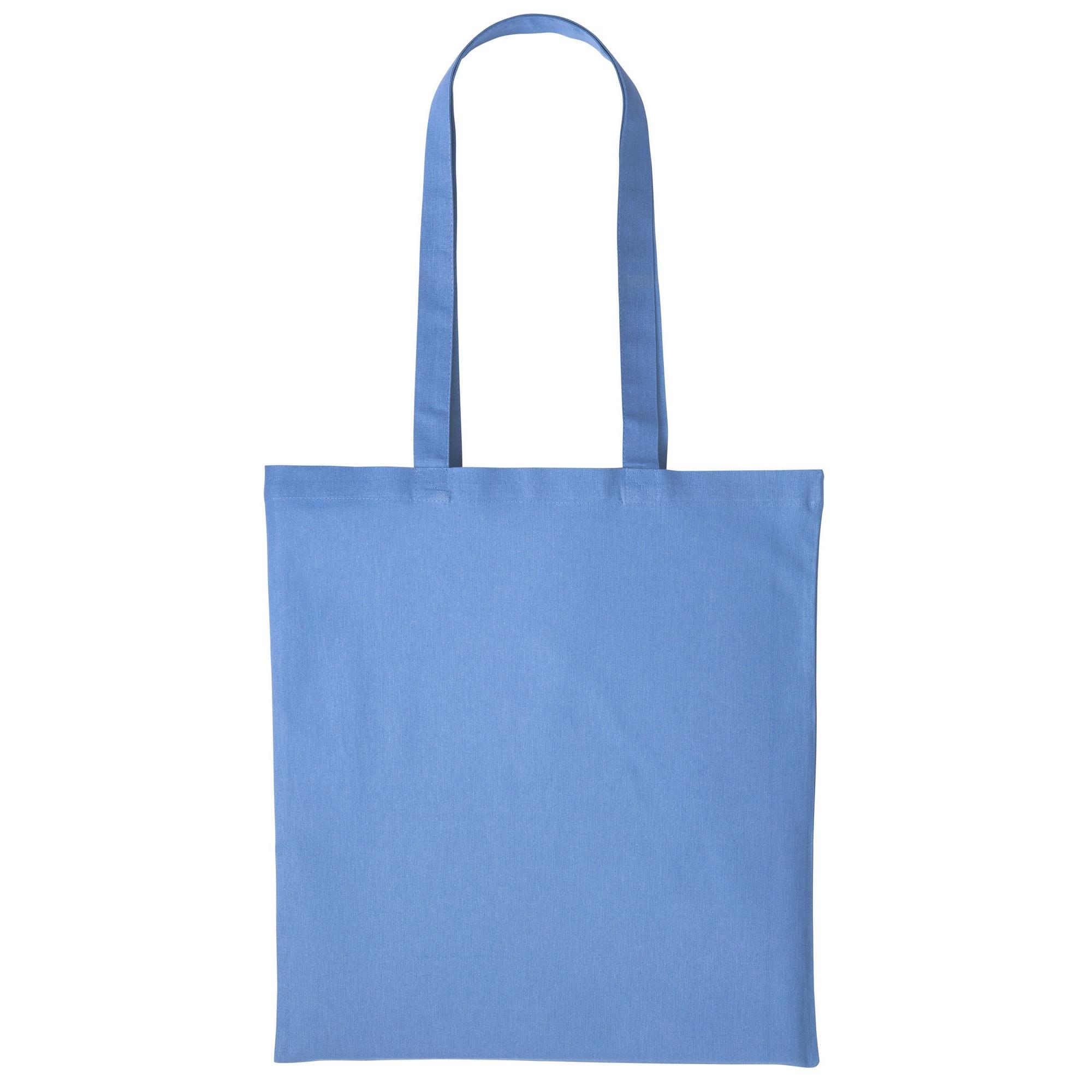 Nutshell Plain Strong Shoulder Shopper Bag (One Size) (Cornflower Blue)