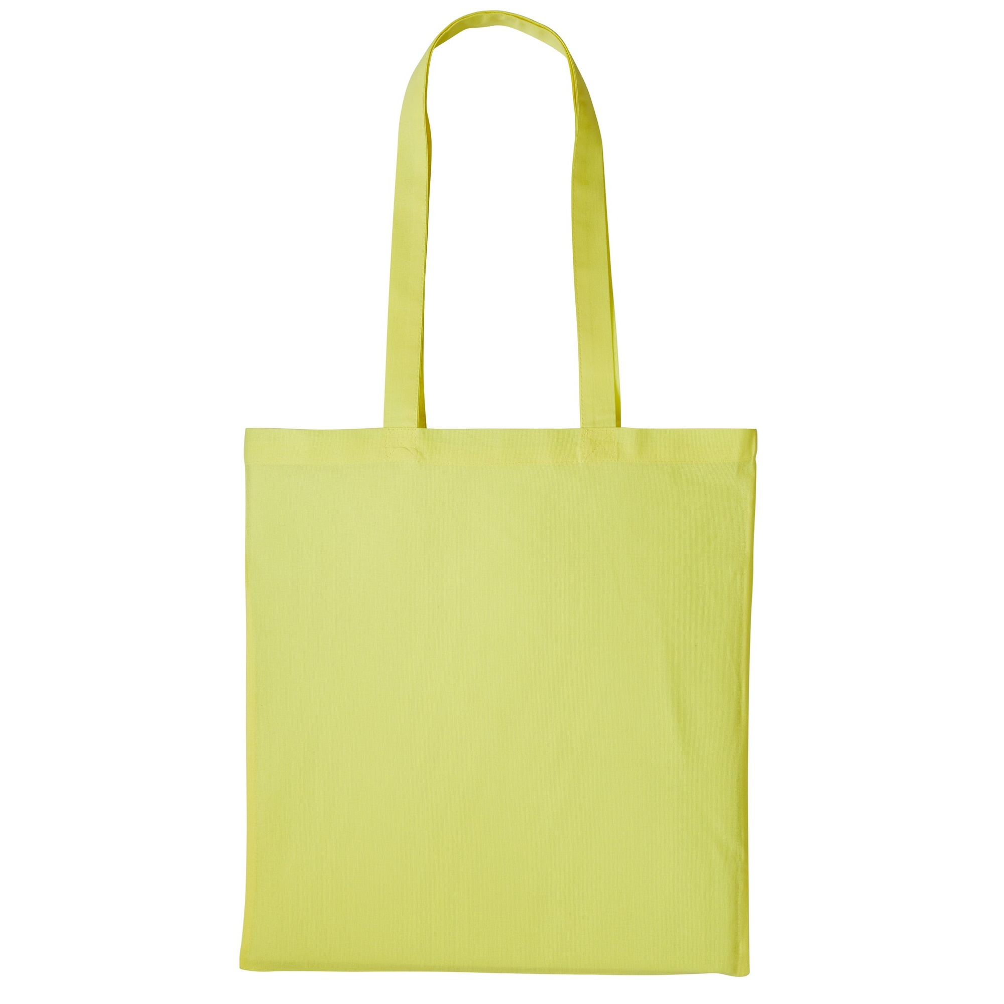Nutshell Plain Strong Shoulder Shopper Bag (One Size) (Pastel Lemon)