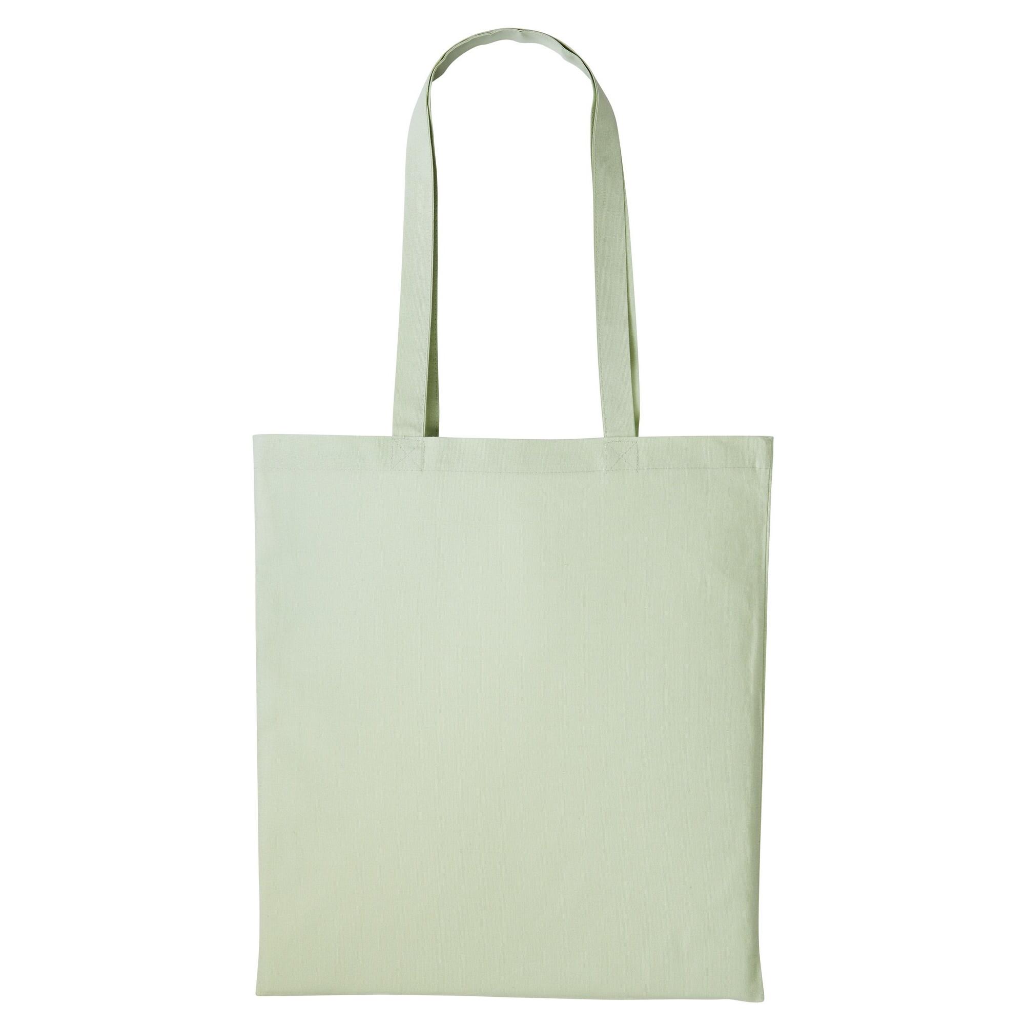 Nutshell Plain Strong Shoulder Shopper Bag (One Size) (Pastel MInt)