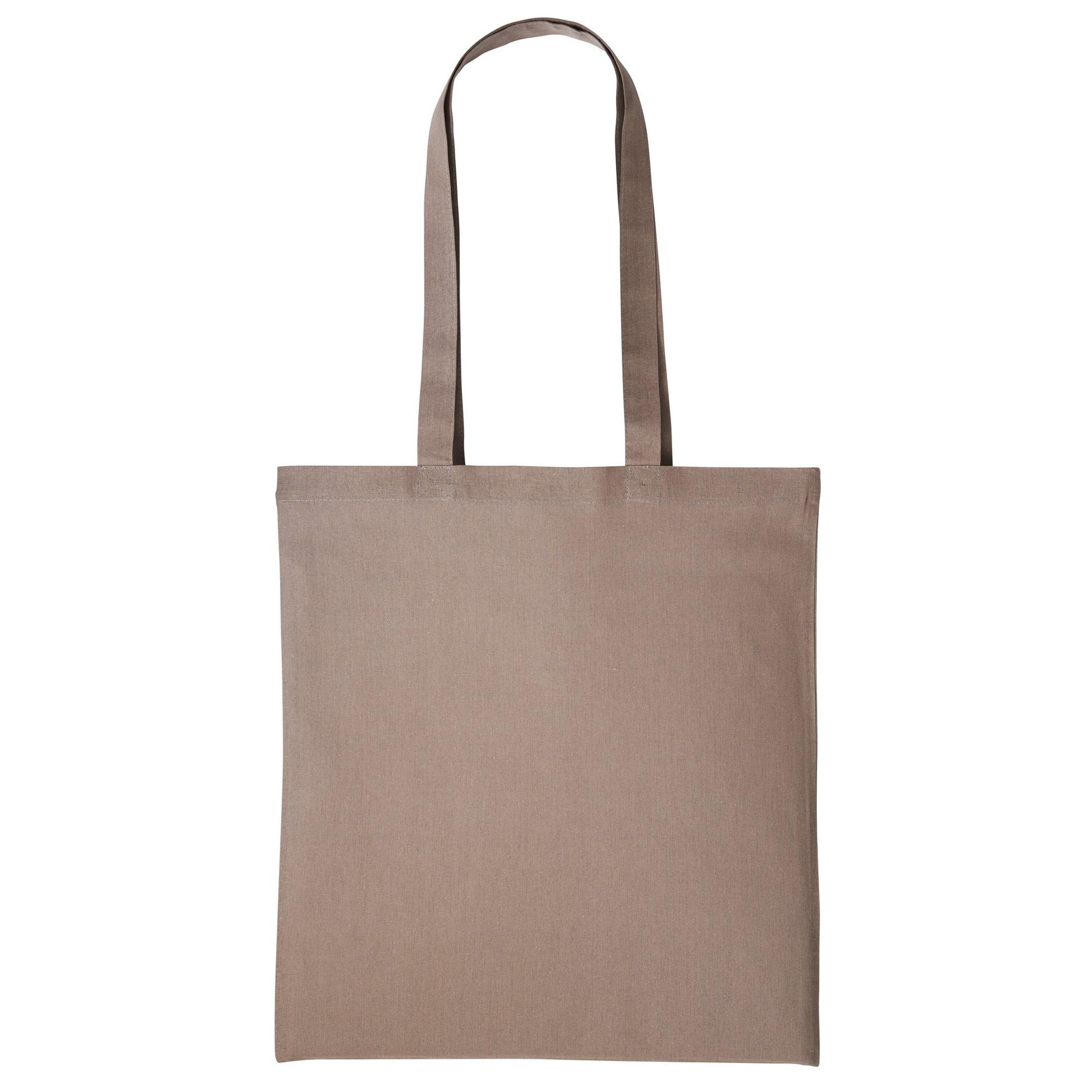 Nutshell Plain Strong Shoulder Shopper Bag (One Size) (Light Brown)
