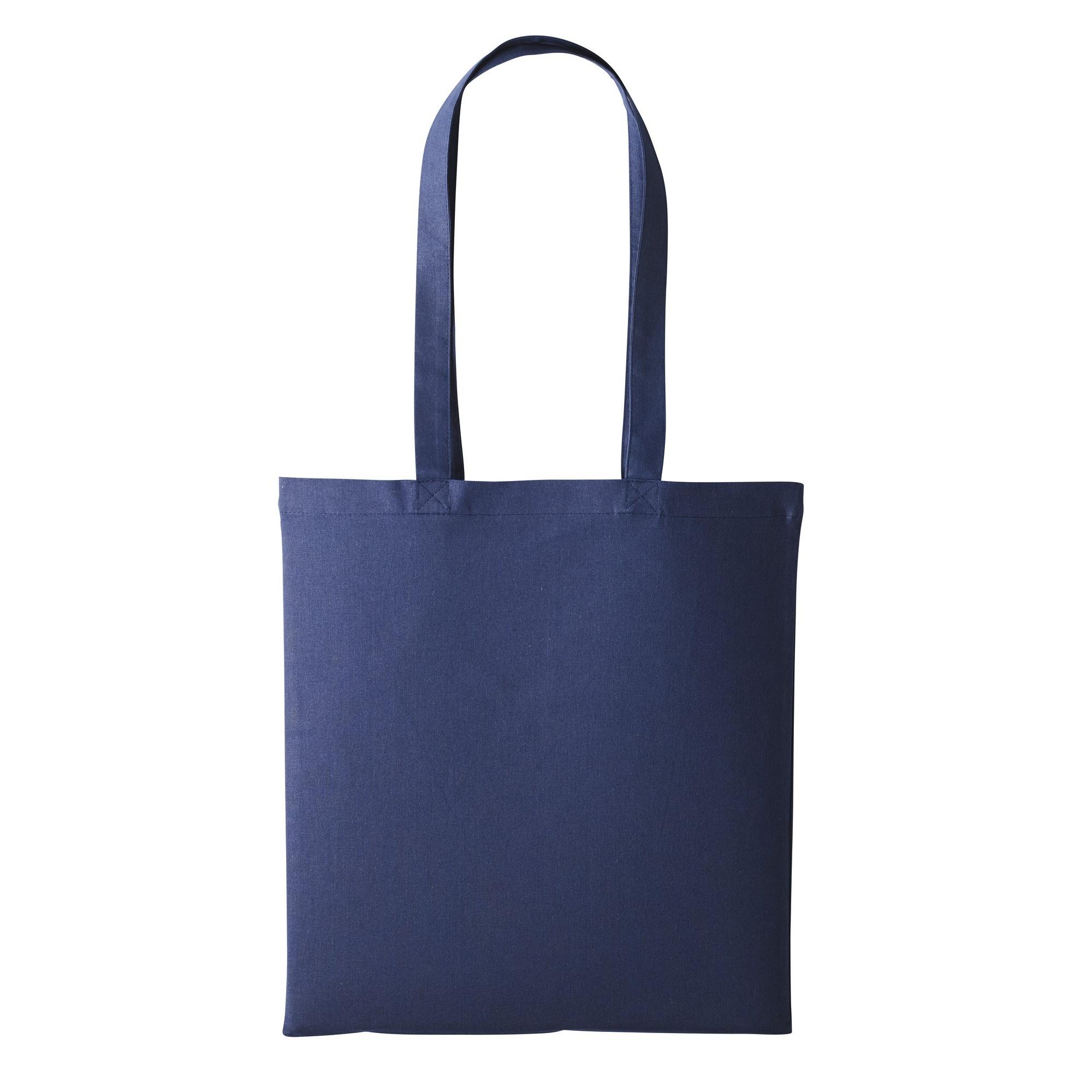 Nutshell Plain Strong Shoulder Shopper Bag (One Size) (Navy)