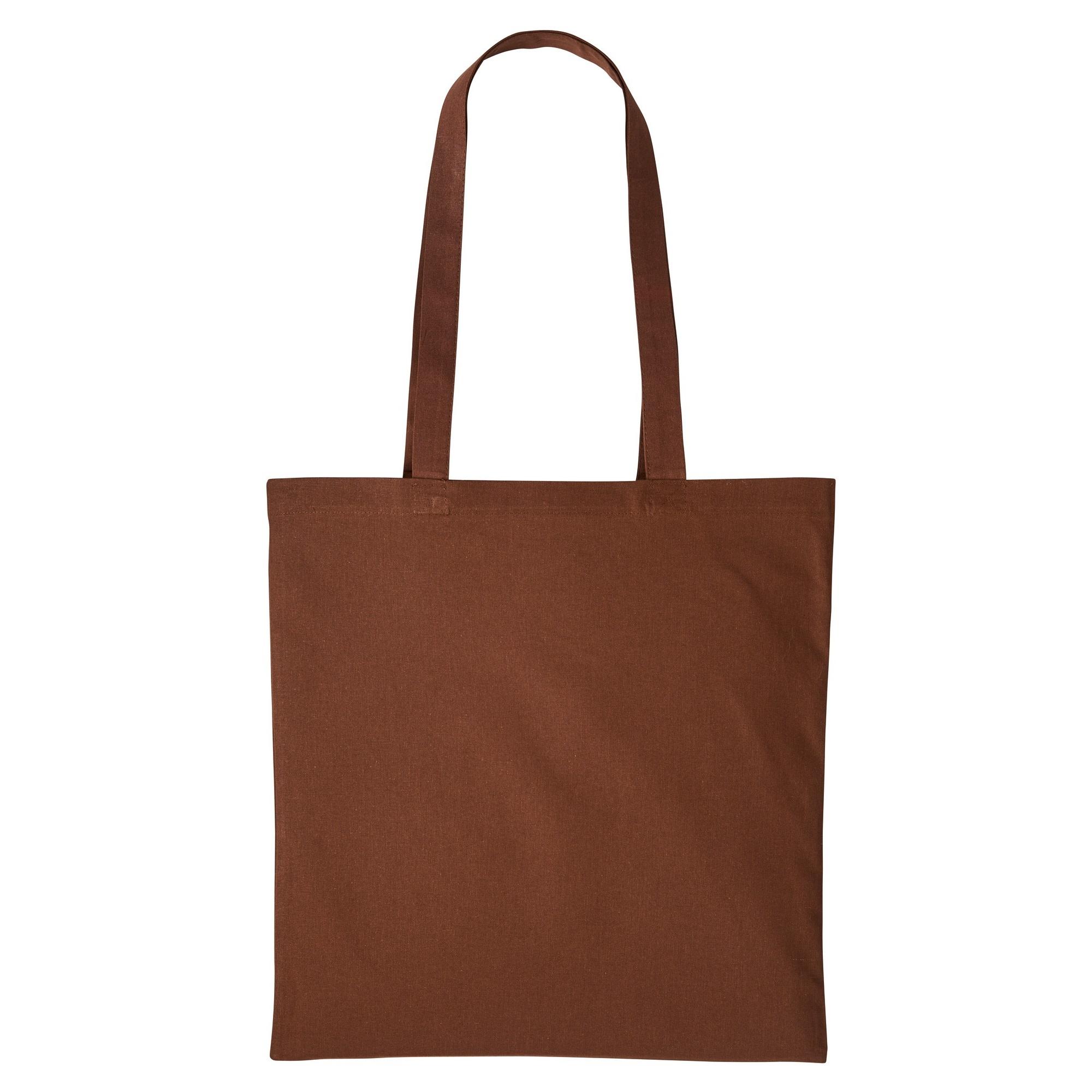 Nutshell Plain Strong Shoulder Shopper Bag (One Size) (Dark Brown)