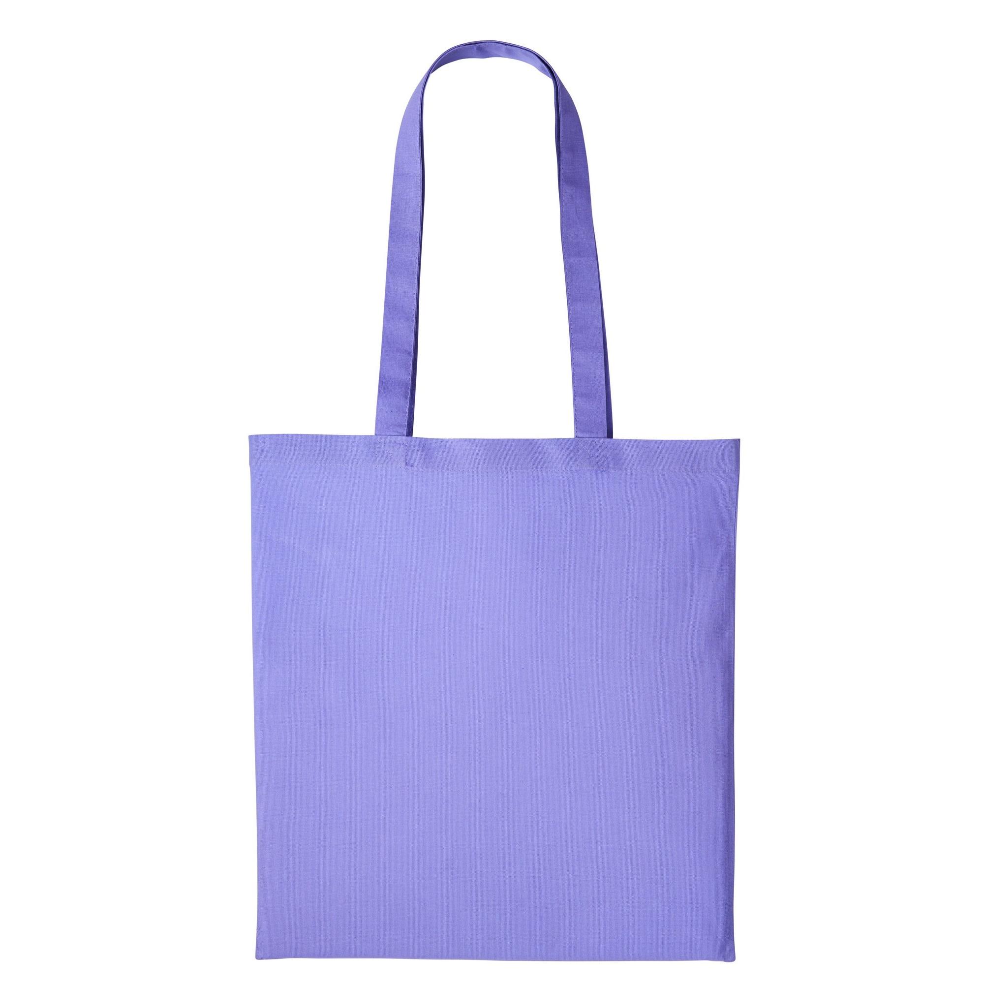 Nutshell Plain Strong Shoulder Shopper Bag (One Size) (Violet)