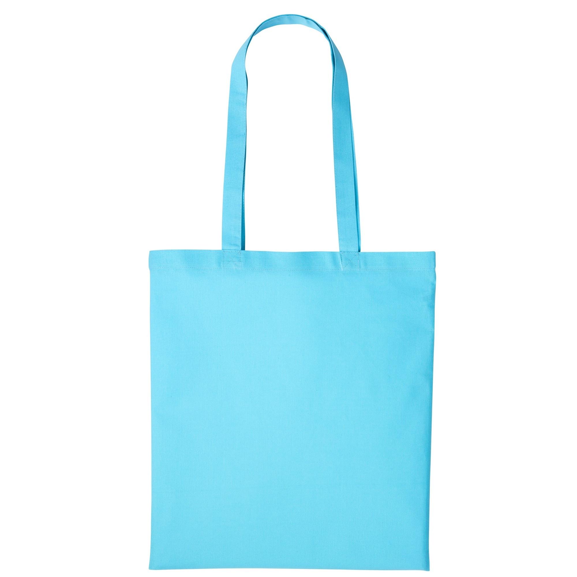 Nutshell Plain Strong Shoulder Shopper Bag (One Size) (Turquoise)