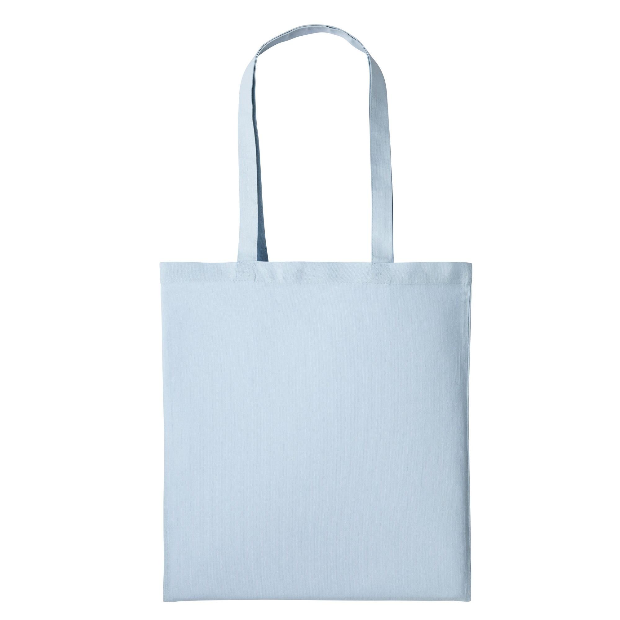 Nutshell Plain Strong Shoulder Shopper Bag (One Size) (Pastel Blue)