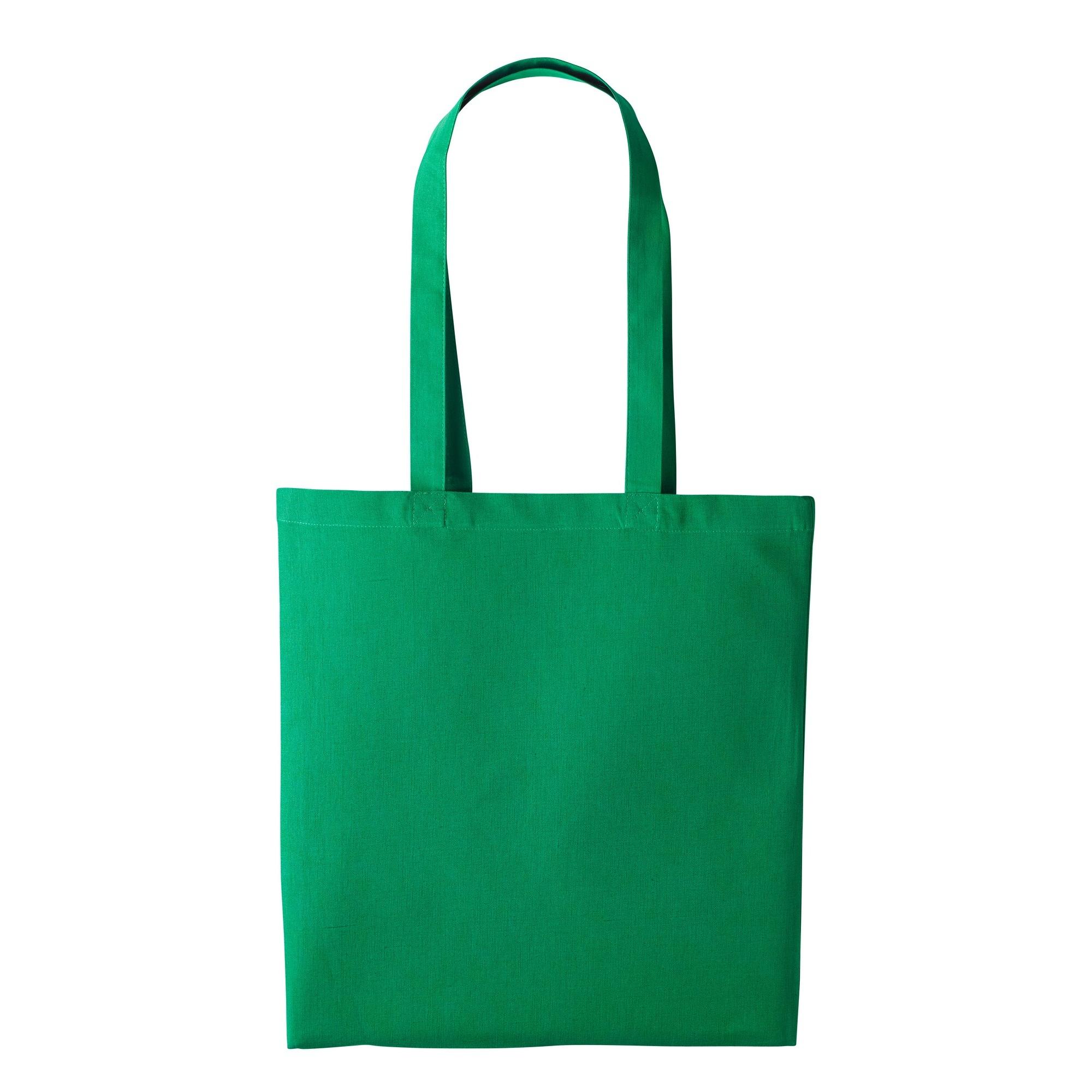 Nutshell Plain Strong Shoulder Shopper Bag (One Size) (Kelly Green)