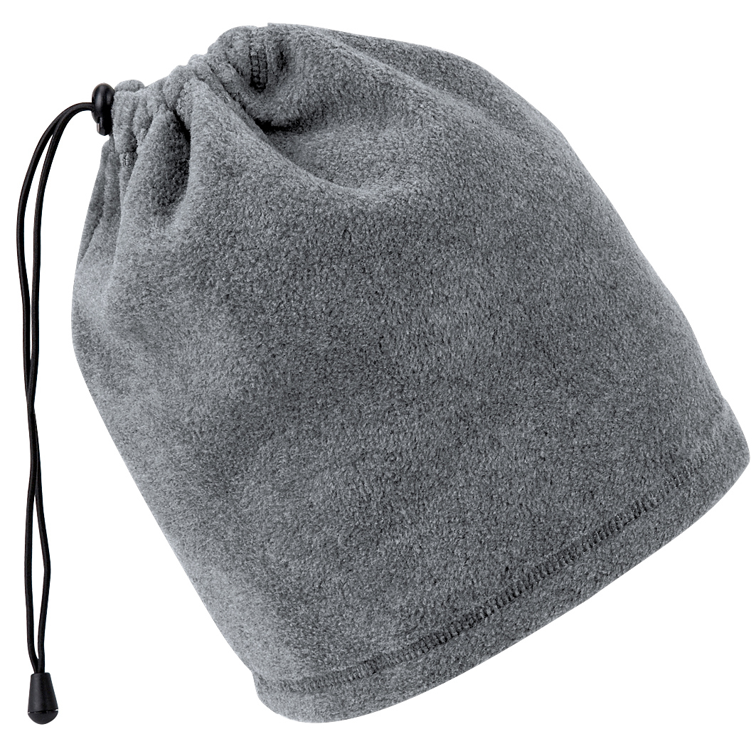 Beechfield Unisex Suprafleece Anti-Pilling 2in1 Winter Hat And Neck Warmer/Snood (One Size) (Charcoal)