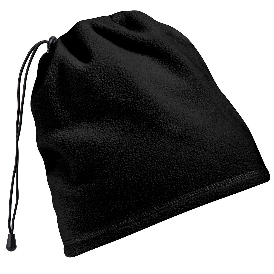 Beechfield Unisex Suprafleece Anti-Pilling 2in1 Winter Hat And Neck Warmer/Snood (One Size) (Black)