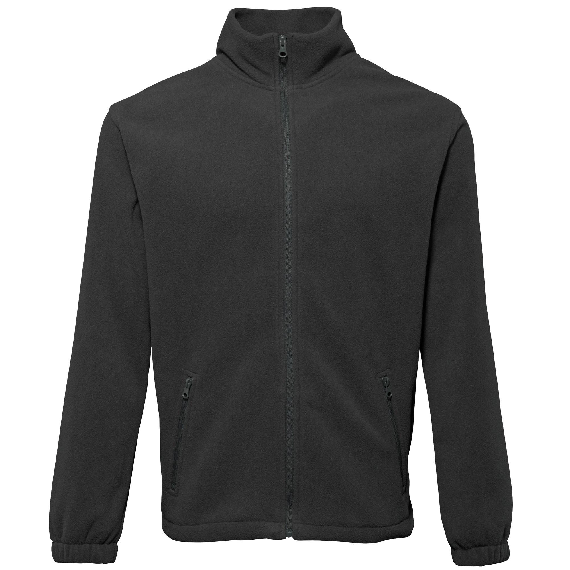2786 Mens Full Zip Fleece Jacket (280 GSM) (XL) (Black)