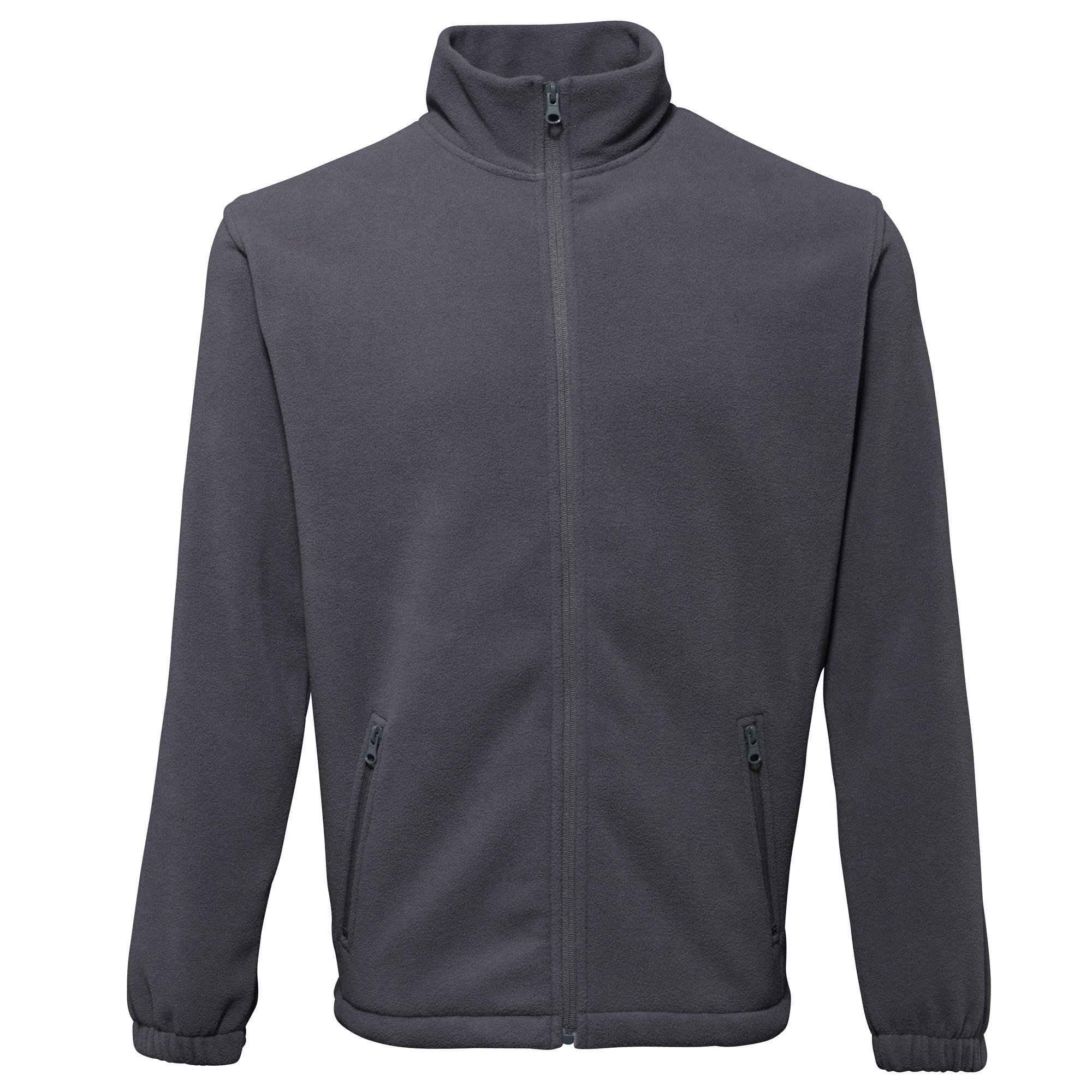 2786 Mens Full Zip Fleece Jacket (280 GSM) (M) (Charcoal)