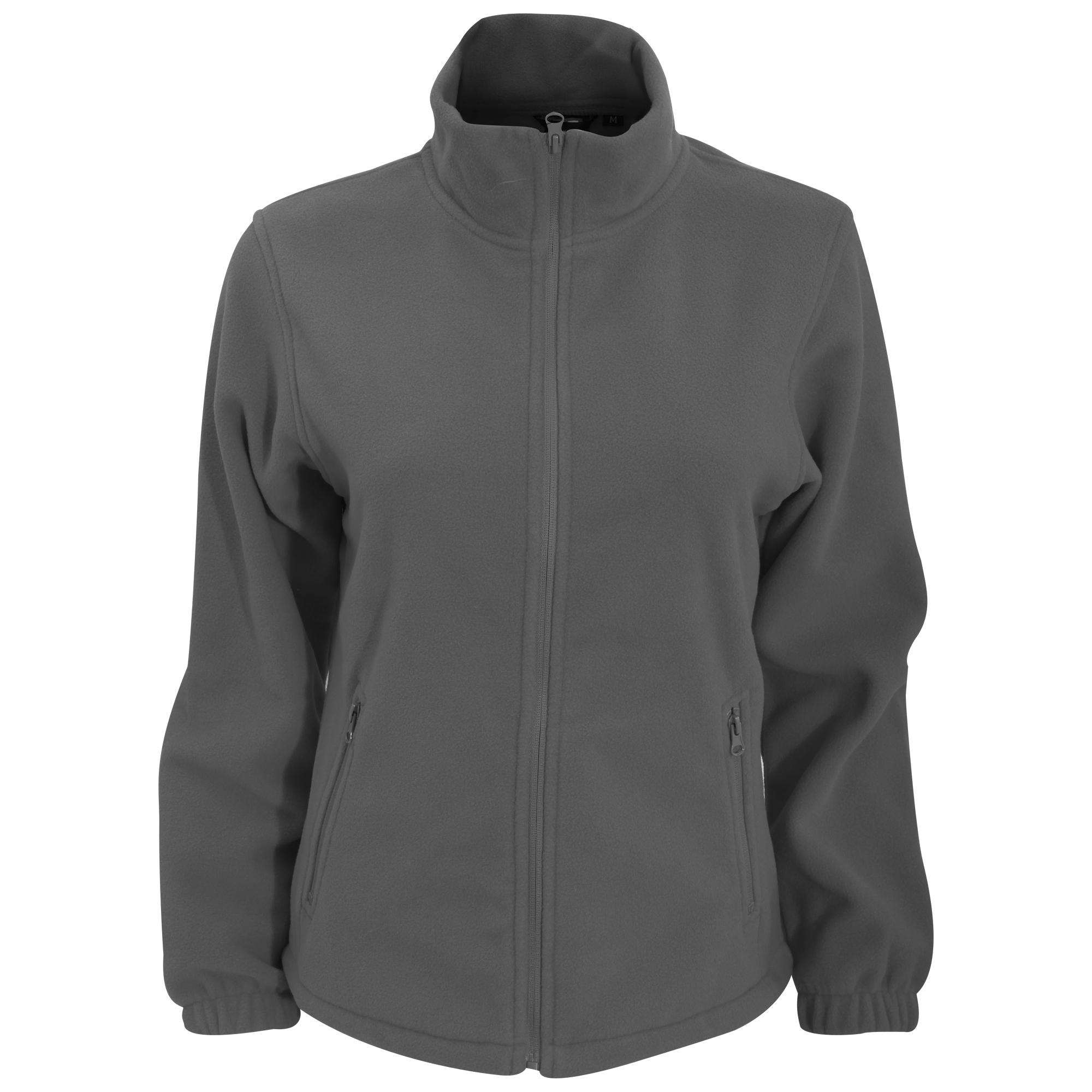 2786 Womens/Ladies Full Zip Fleece Jacket (280 GSM) (XS) (Charcoal)