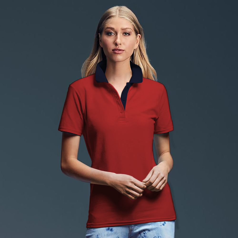 Anvil-Womens-Ladies-Double-Pique-Semi-Fitted-Polo-
