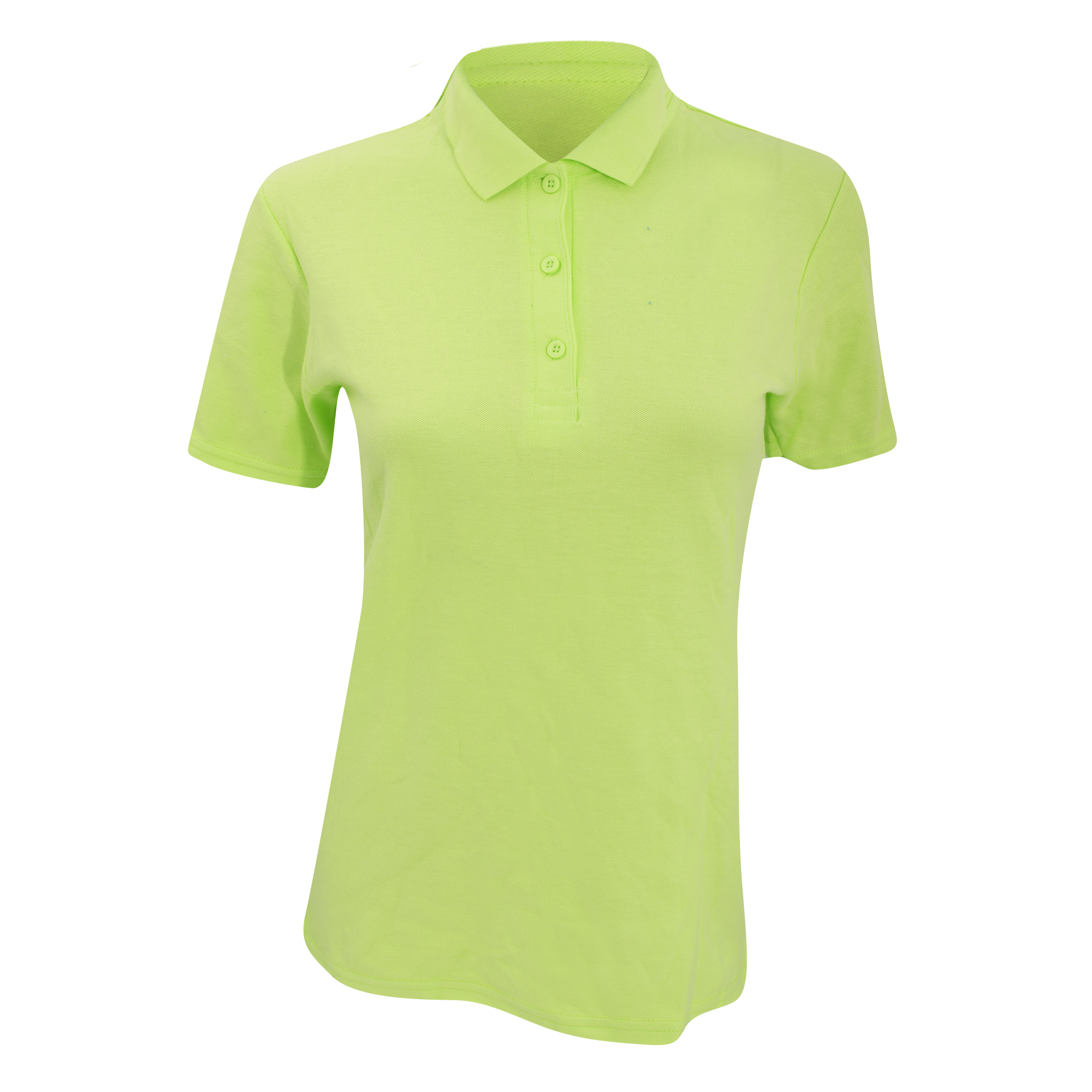 Anvil Womens/Ladies Double Pique Semi-Fitted Polo Shirt (M) (Key Lime)