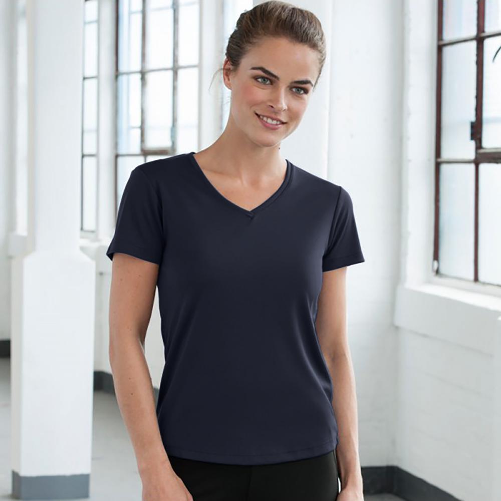 AWDis Cool V Neck Girlie Cool Short Sleeve T-Shirt (S) (Hot Pink)