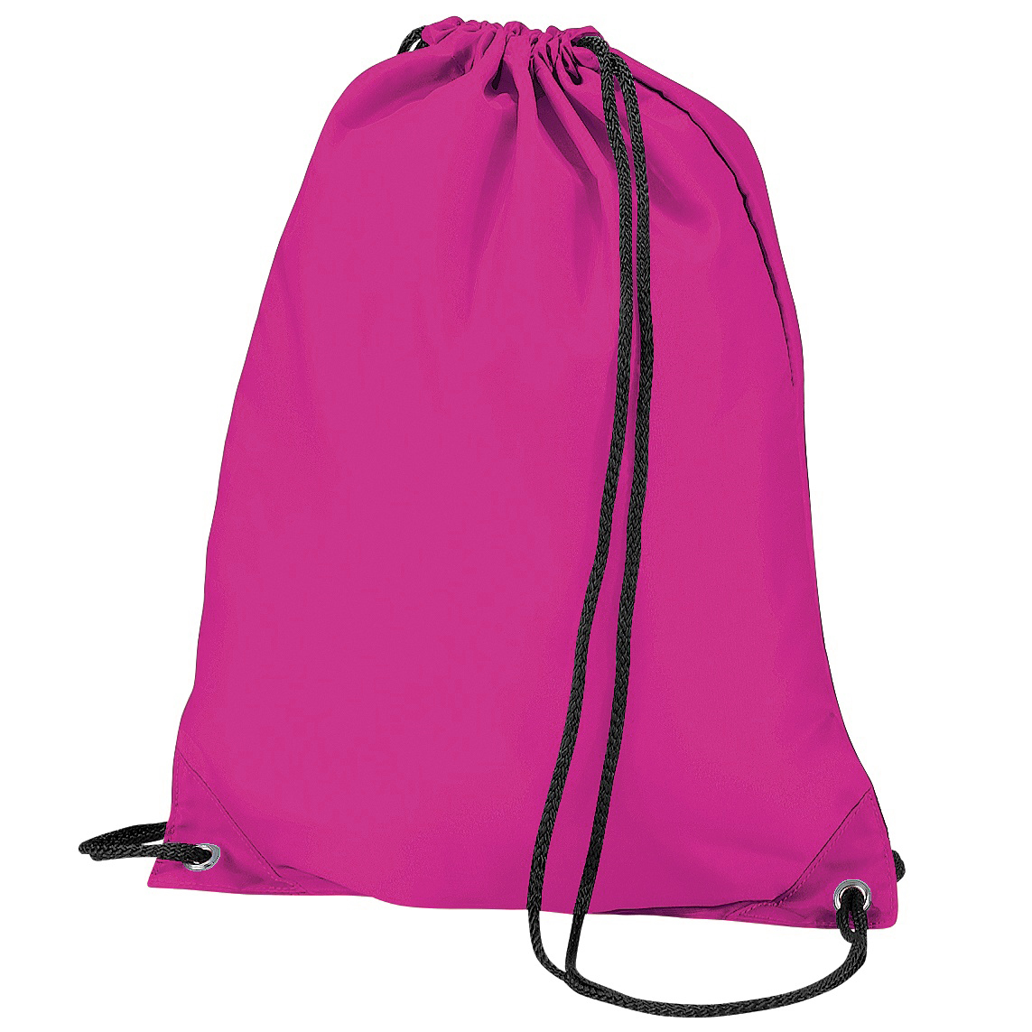 BagBase Budget Water Resistant Sports Gymsac Drawstring Bag (11L) (One Size) (Fuschia)