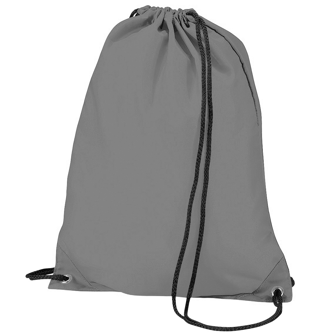 BagBase Budget Water Resistant Sports Gymsac Drawstring Bag (11L) (One Size) (Graphite Grey)