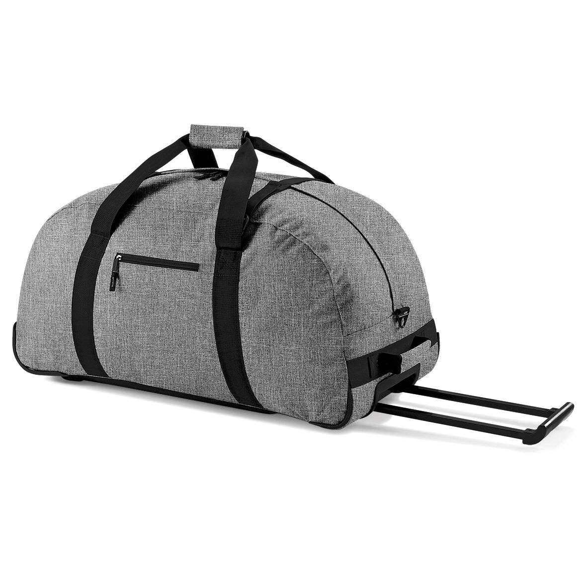 BagBase Classic Wheelie Holdall / Duffle Travel Bag (One Size) (Grey Marl)